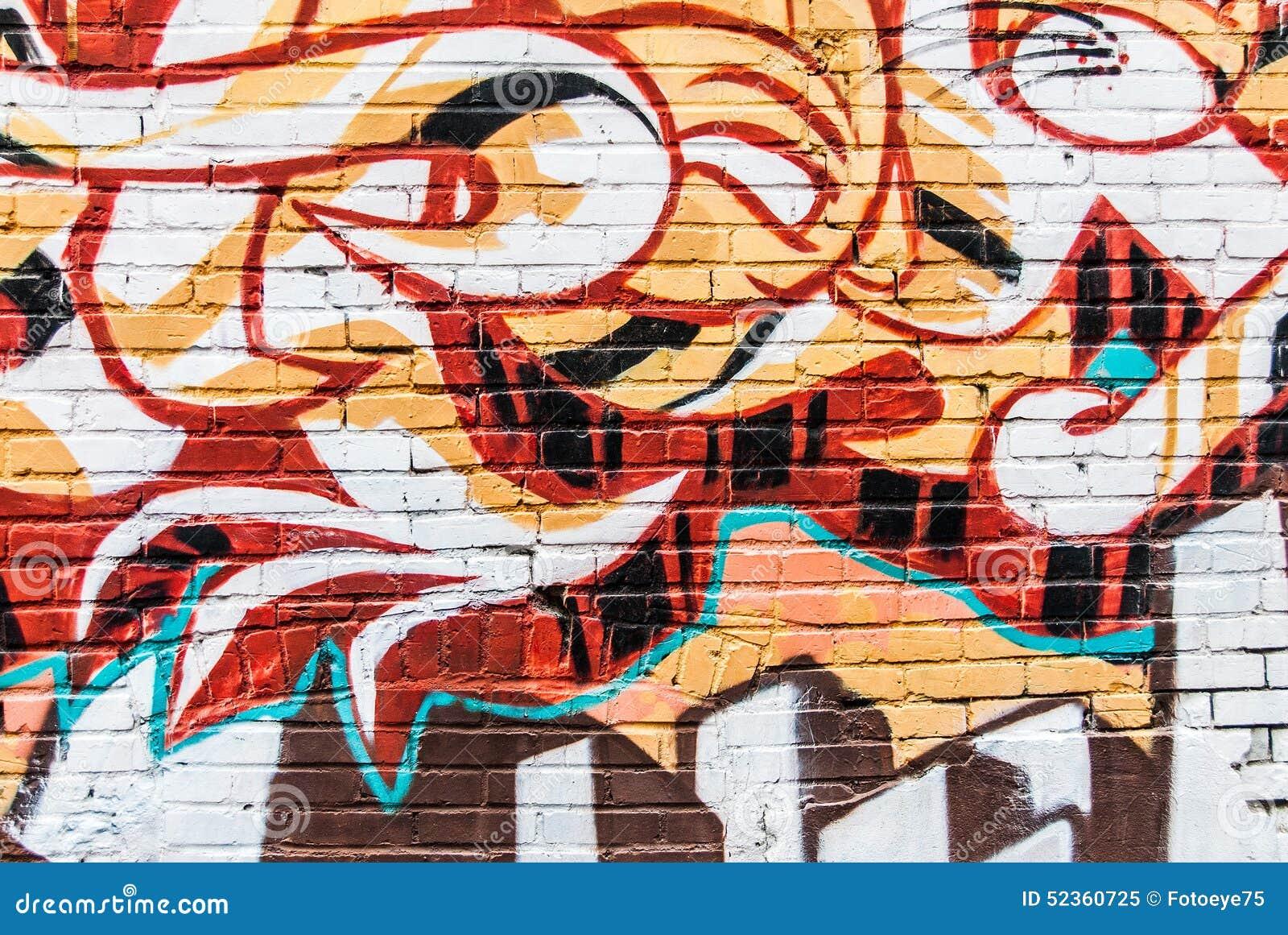 Graffiti Wall Stock Photo Image 52360725
