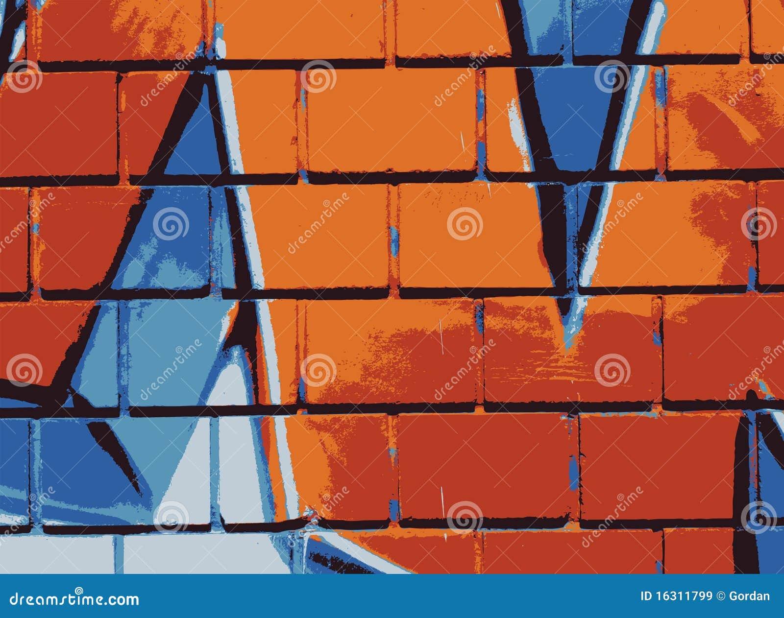 Graffiti wall vector free - Background Graffiti Illustration Wall