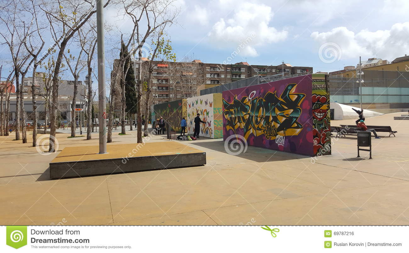 Graffiti wall barcelona - Barcelona Graffiti Public Space Walls