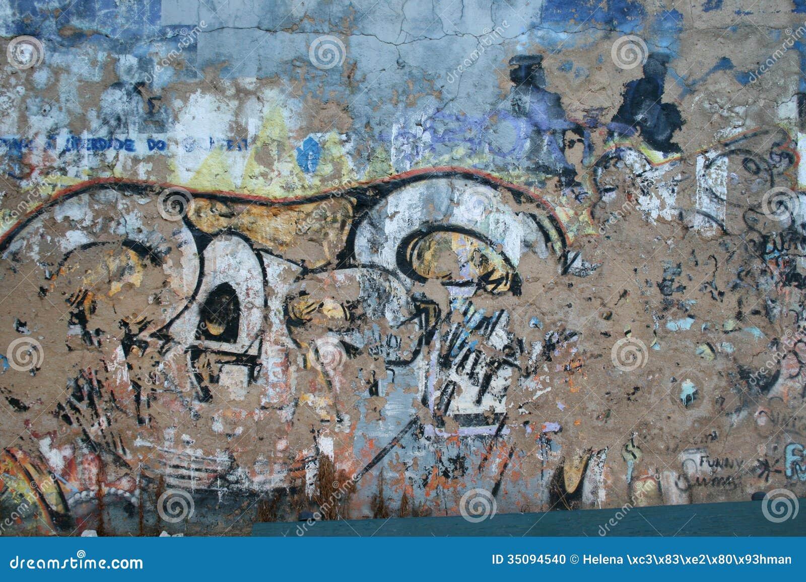 graffiti wand hintergrund stockfoto bild von stein graffiti 35094540. Black Bedroom Furniture Sets. Home Design Ideas