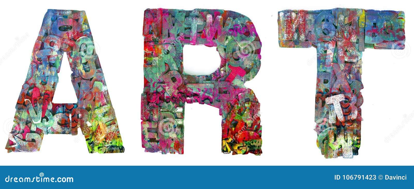 Graffiti word ART isolated stock image. Image of artwork