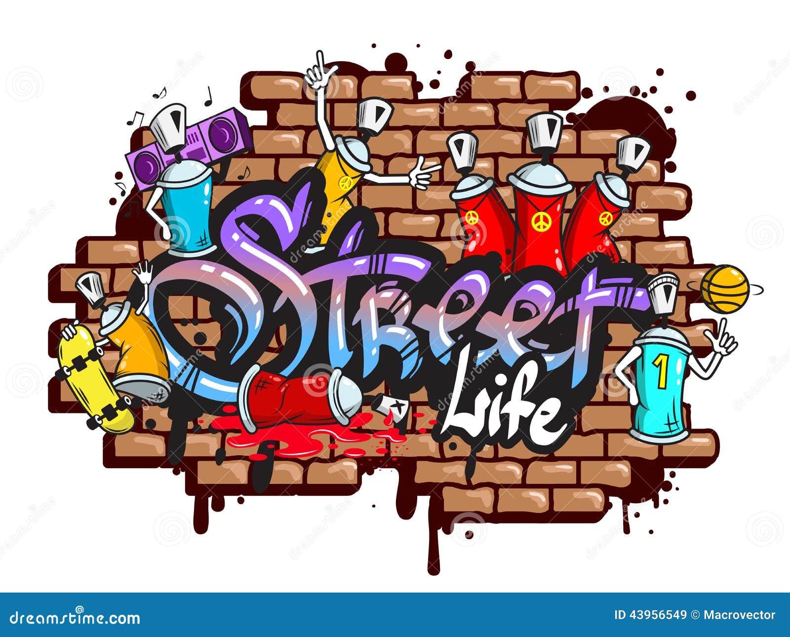 Graffiti word characters composition stock vector illustration of expressive brick 43956549 - Graffiti prenom gratuit ...