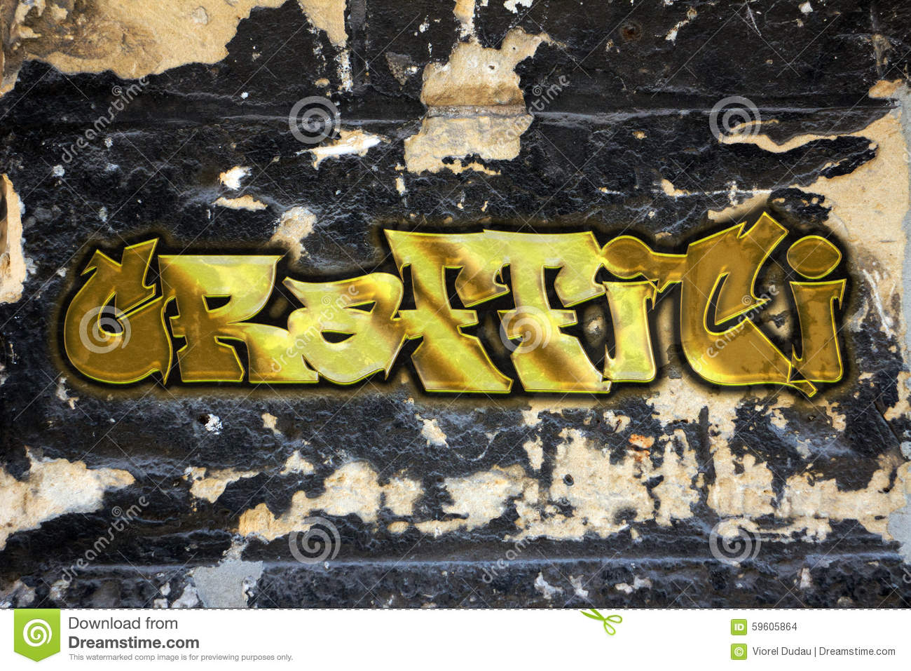 Graffiti stock illustration. Illustration of grunge, sprayed - 59605864