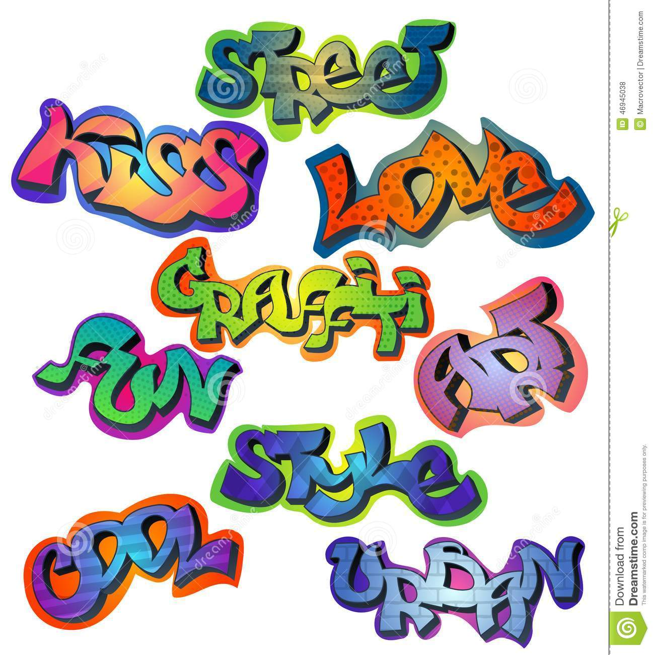 Cool Words In Graffiti