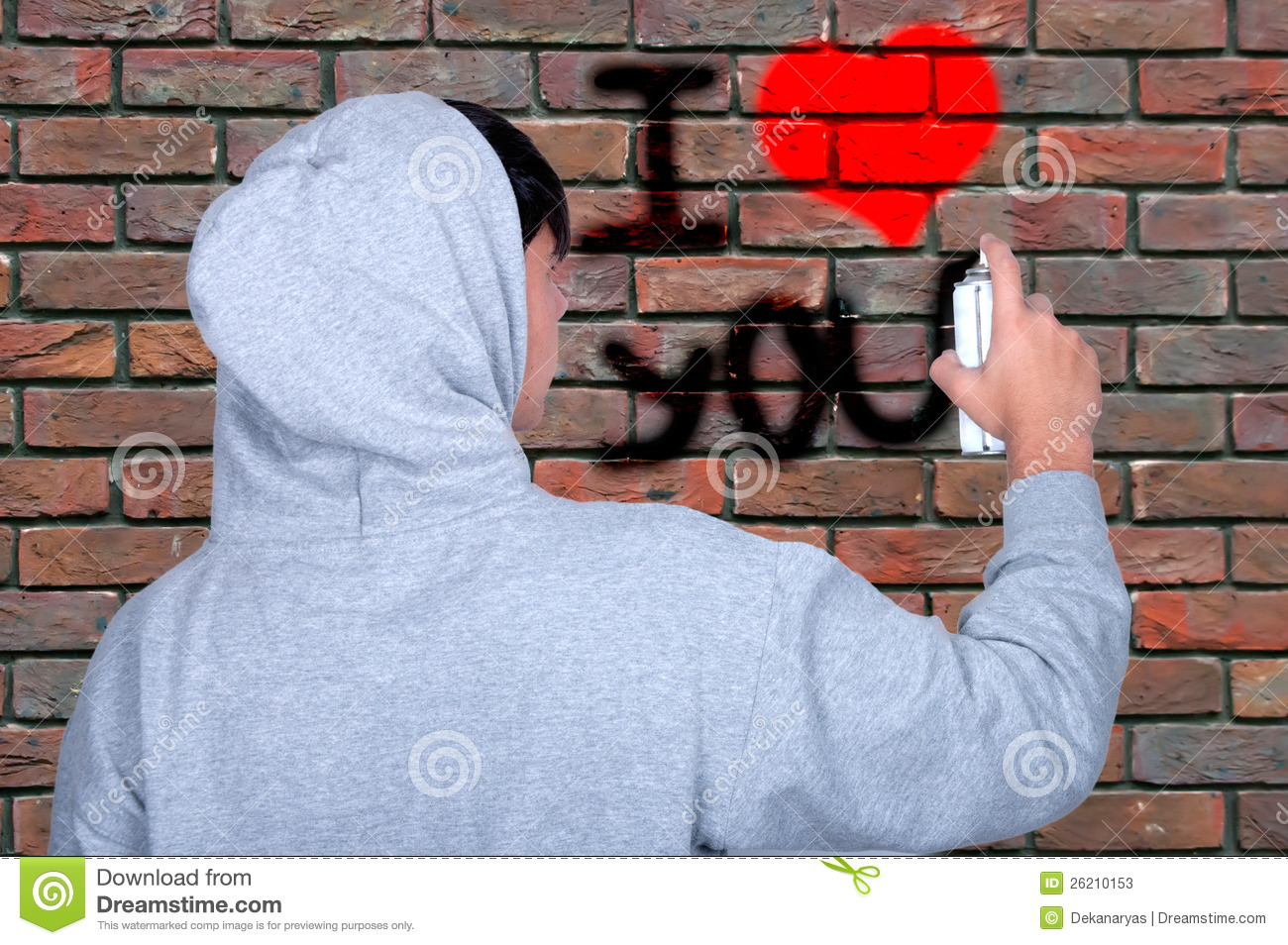 graffiti young people on using spray paint stock photos image. Black Bedroom Furniture Sets. Home Design Ideas