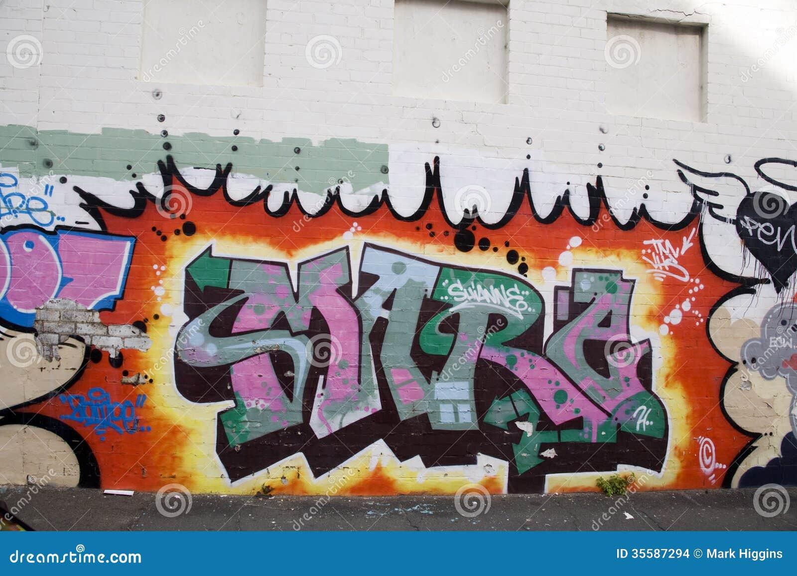 graffitti stock photo image of arts building background 35587294