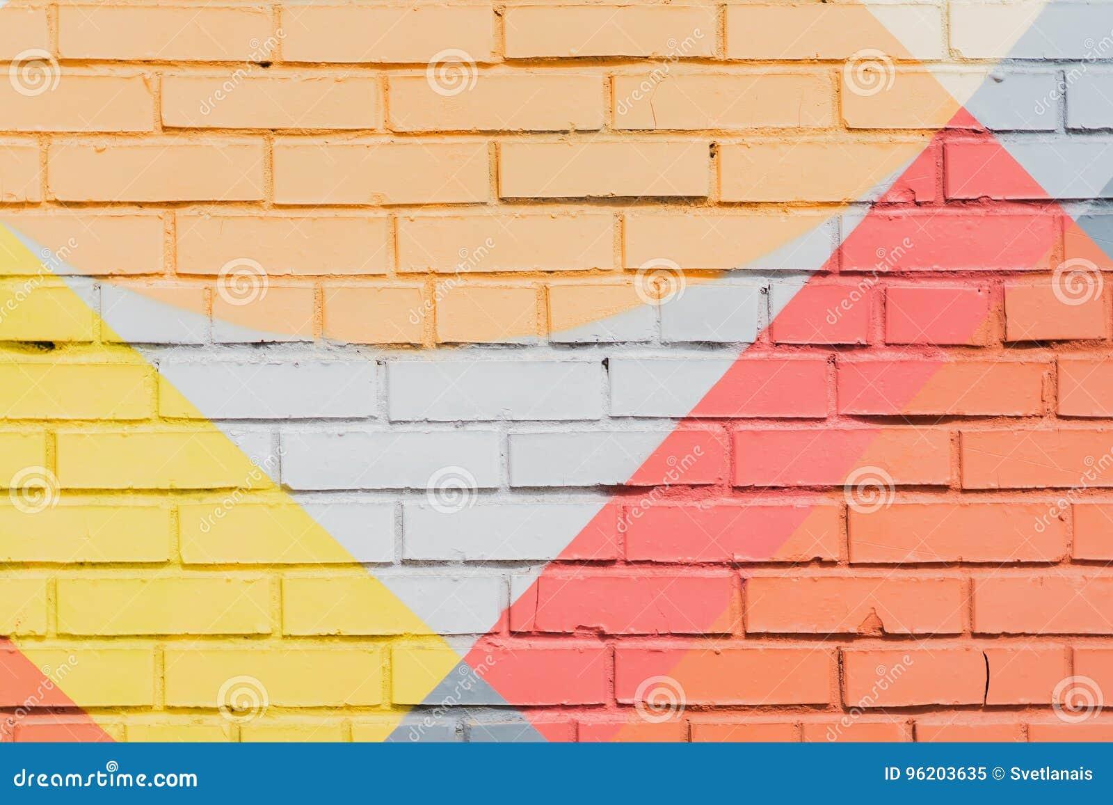 Graffity tegelstenvägg, mycket liten detalj Abstrakt stads- närbild för gatakonstdesign Modern iconic stads- kultur som är stilfu