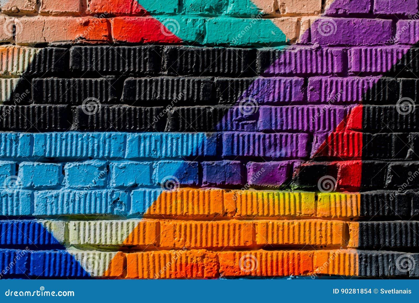 Graffity vägg Abstrakt begrepp som är detal av stads- närbild för gatakonstdesign Modern iconic stads- kultur, stilfull modell Ka