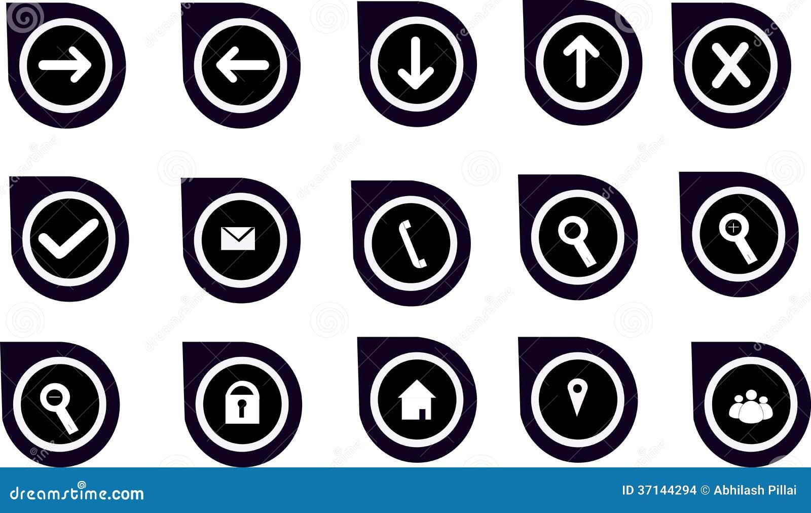 Grafici & icone di navigazione per i siti Web