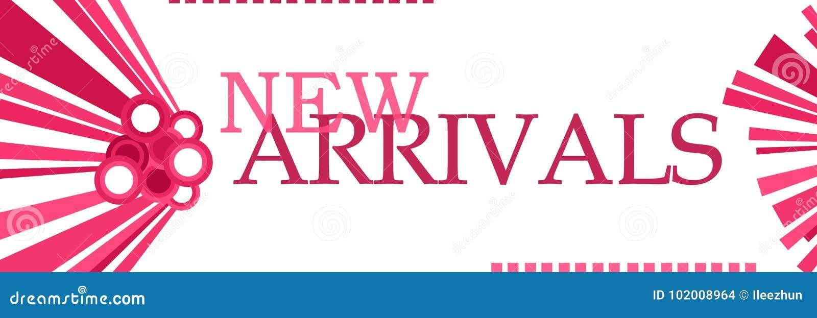 Grafici rosa di nuovi arrivi orizzontali