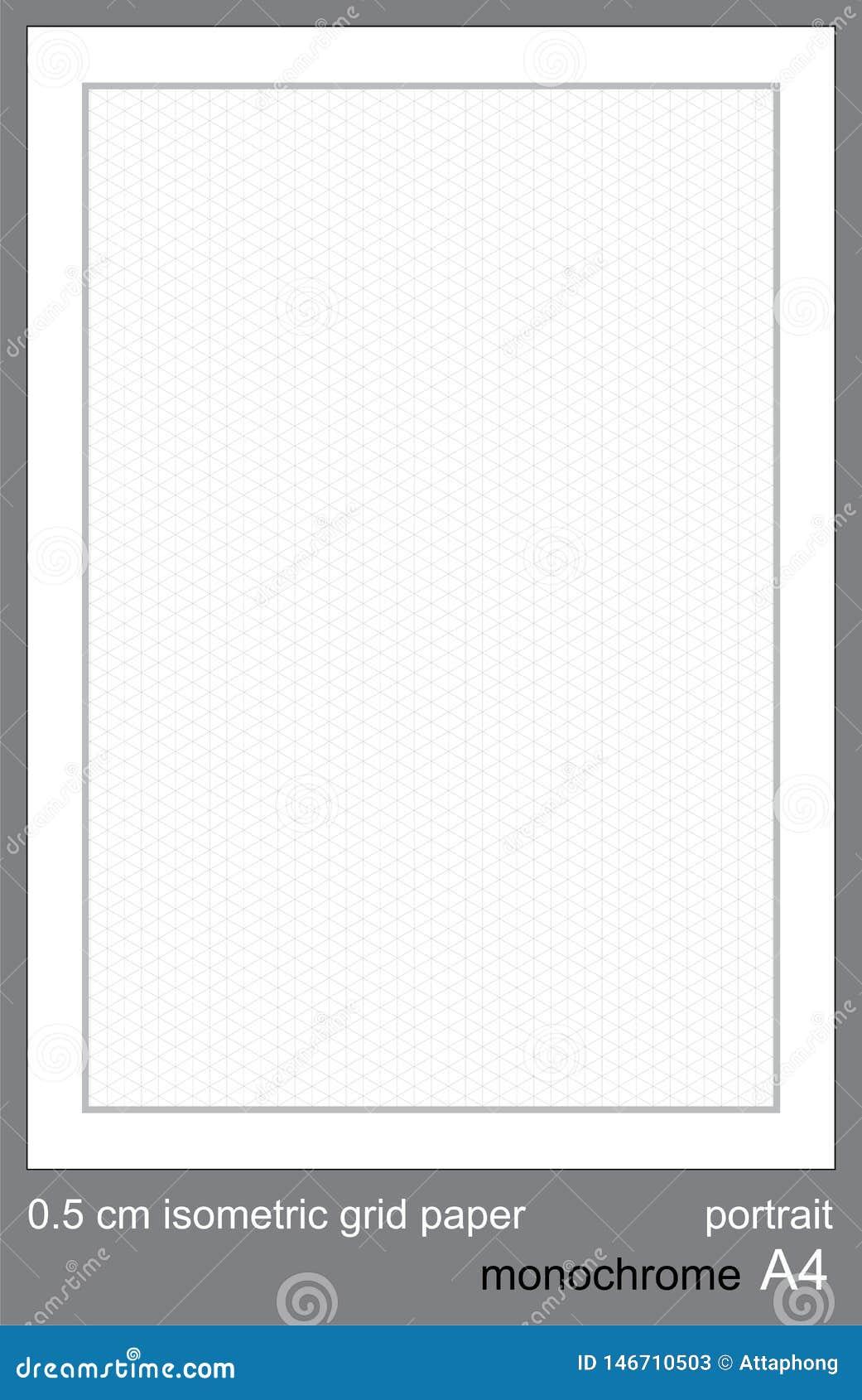 5 grafico isometrico di griglia di griglia di cm A4 di vettore isometrico di carta isometrico di griglia