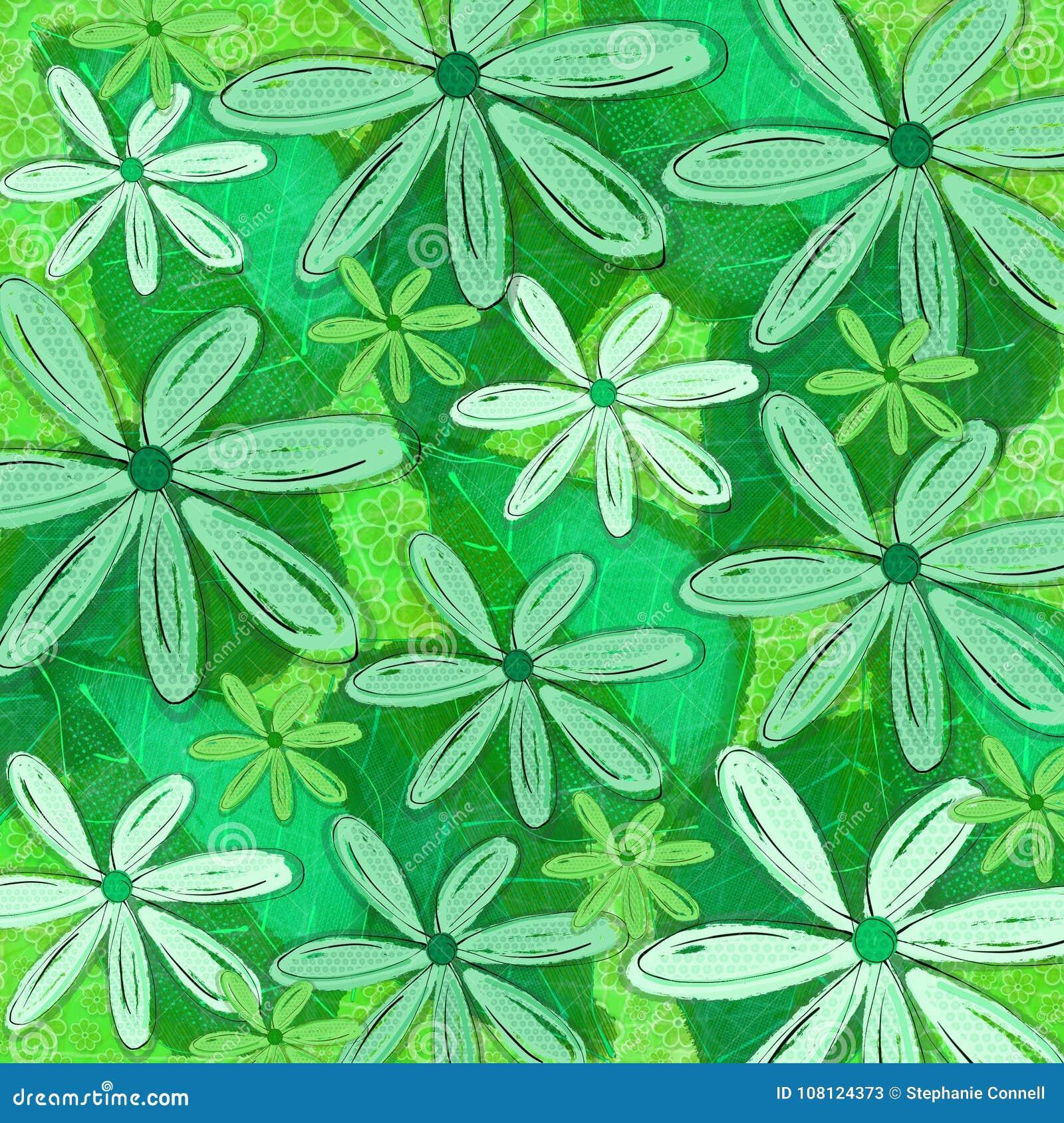 Grafico modellato tropicale verde del fondo