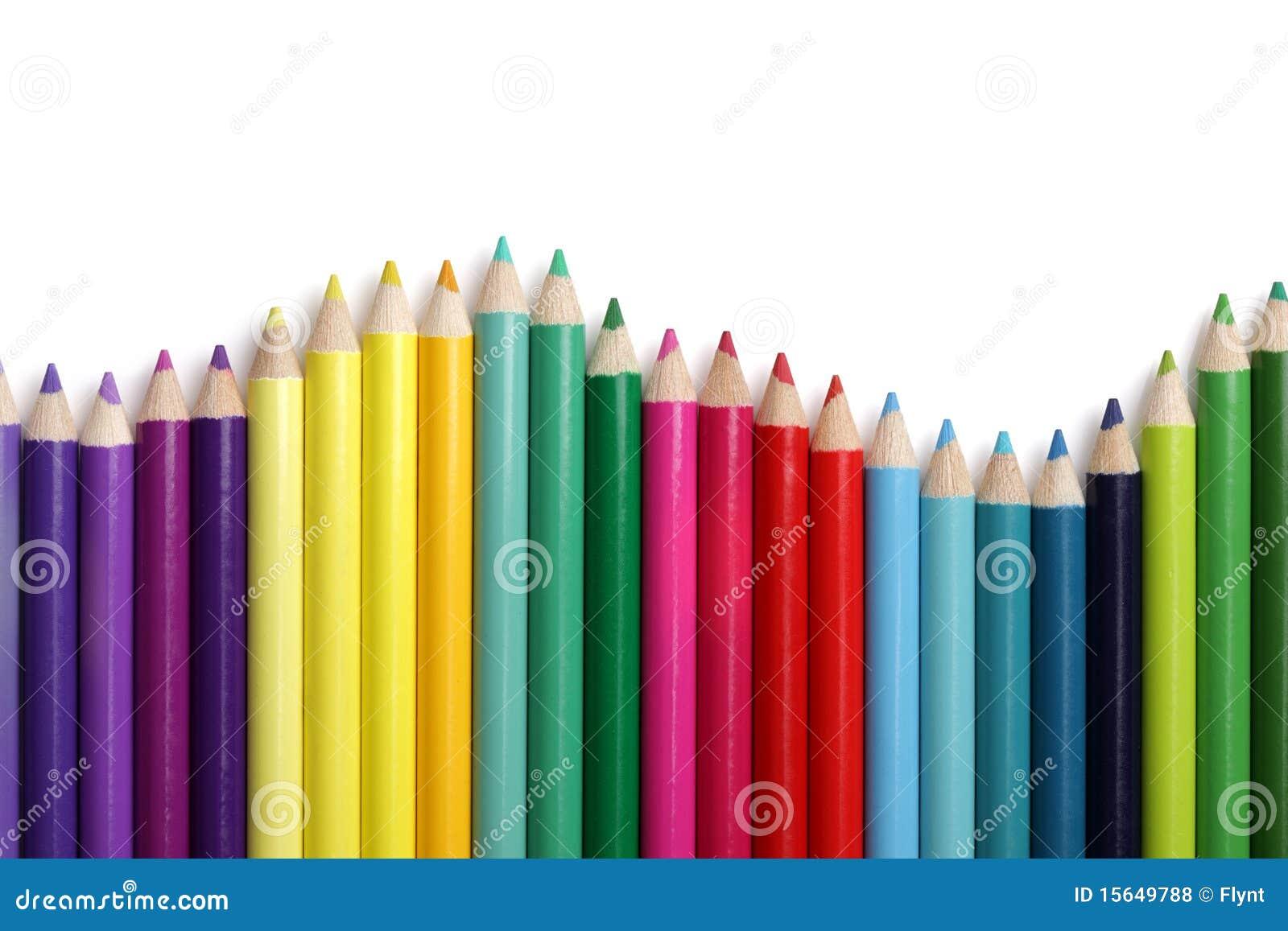 Grafico a strisce colorato della matita