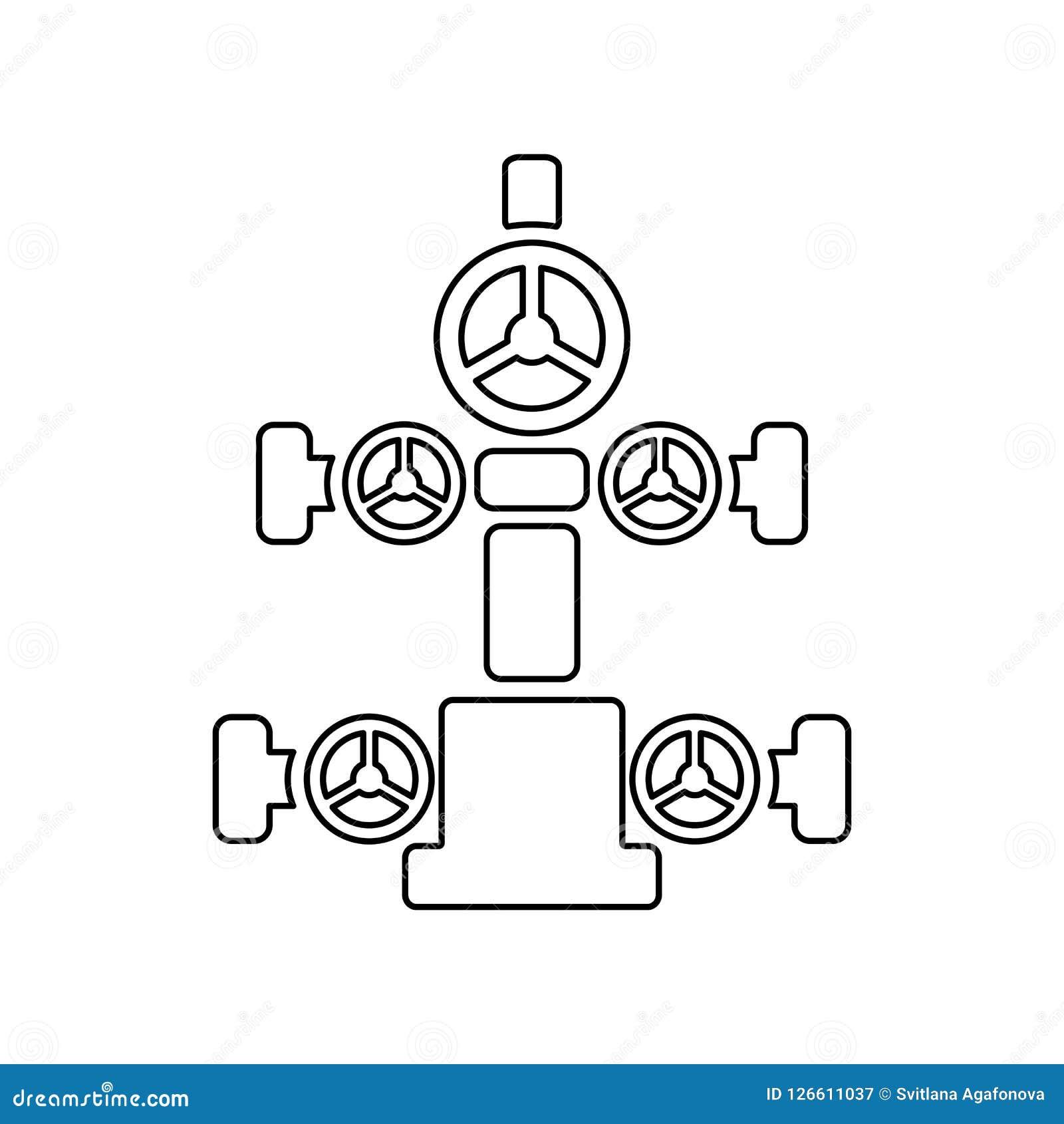 Graficzna płaska wektorowa kontur choinki ikona odizolowywająca; wellhe