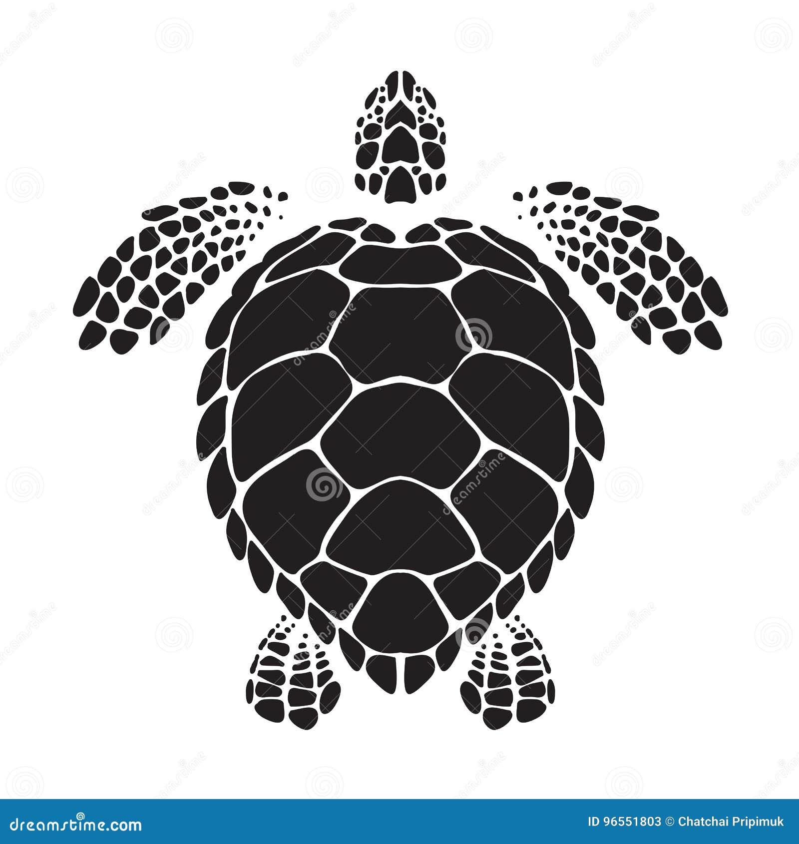 Graficzny denny żółw, wektor