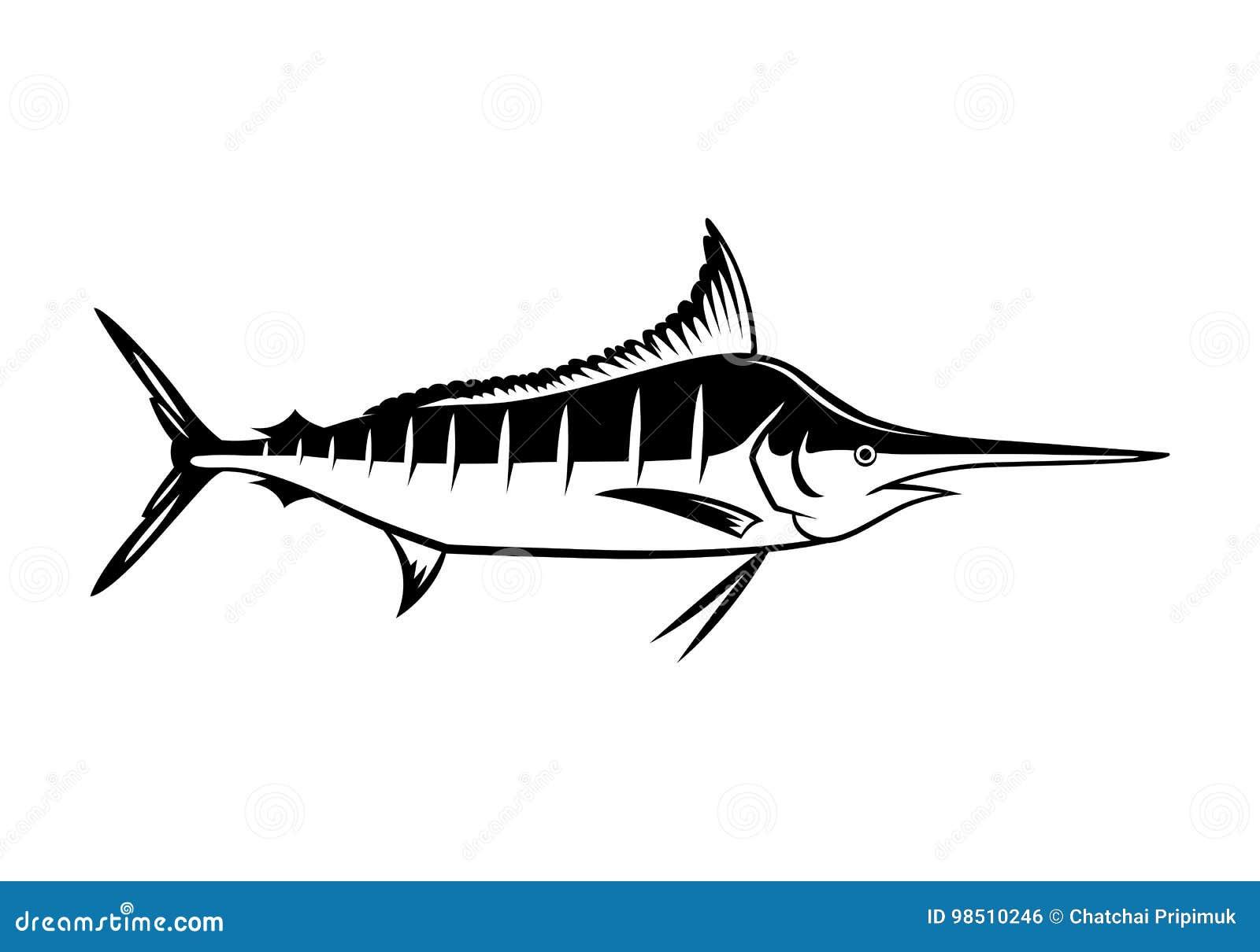 Graficzny marlin, wektor