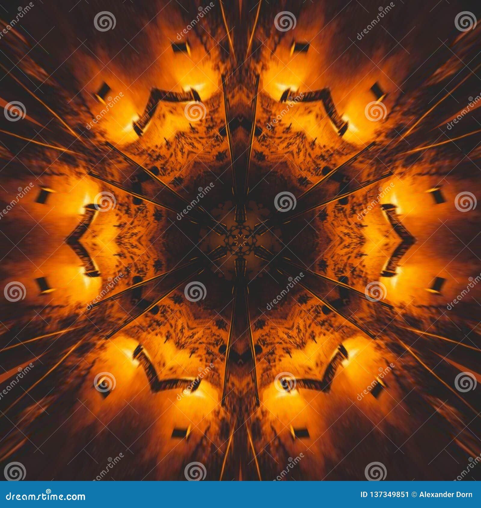 Graficzny wizerunek z kalejdoskopu stylu projekta abstraktem