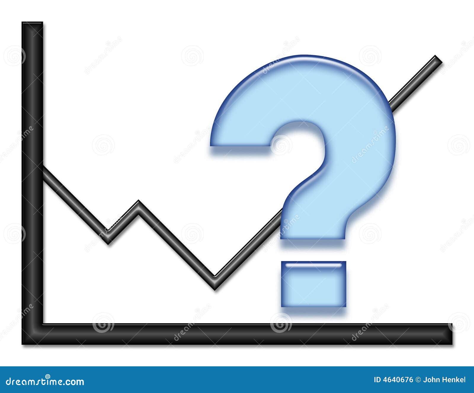 Grafiek met blauw vraagteken stock illustratie afbeelding 4640676 - Grafiek blauw grijze verf ...