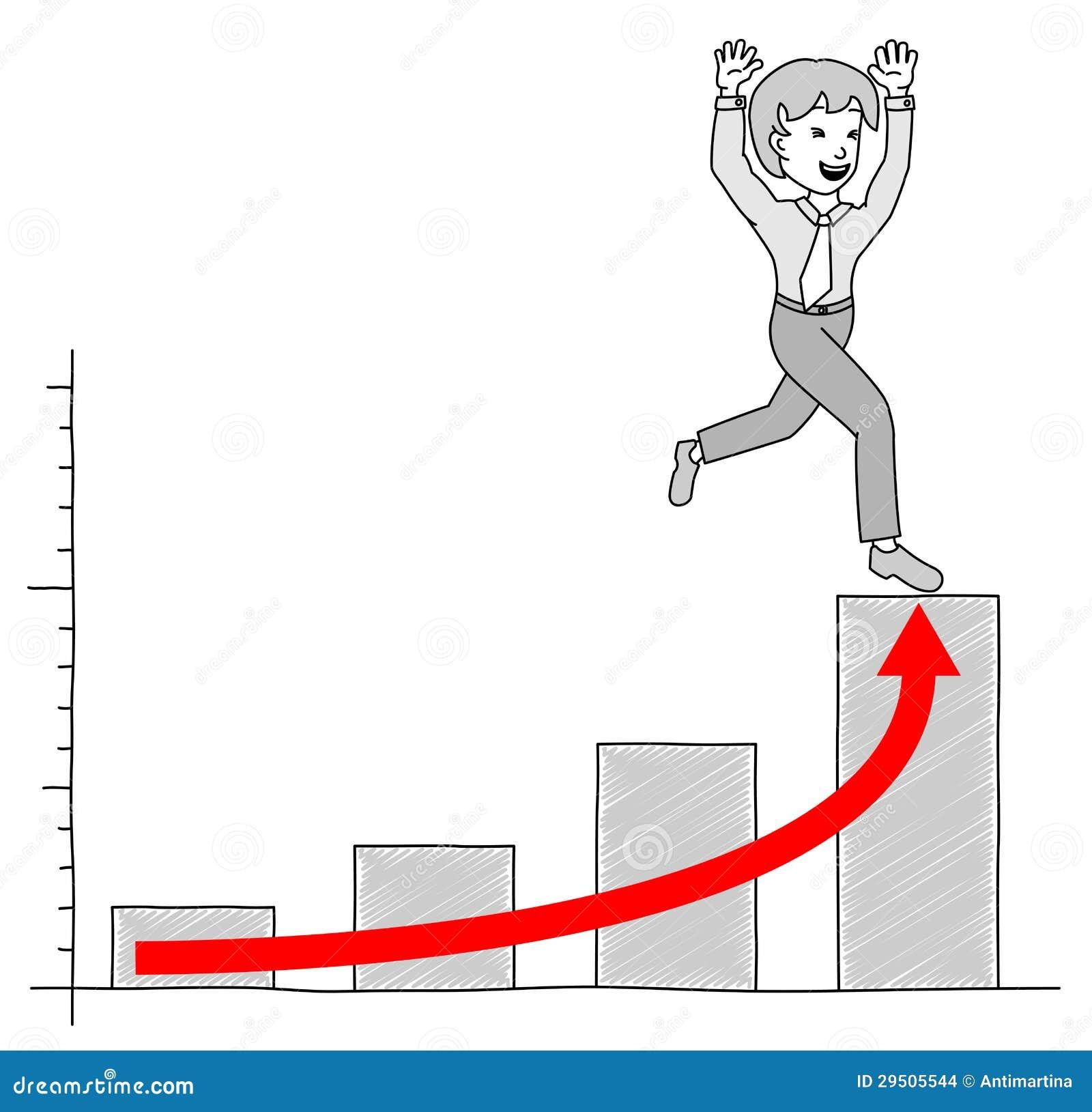 Grafiek met zakenman 4