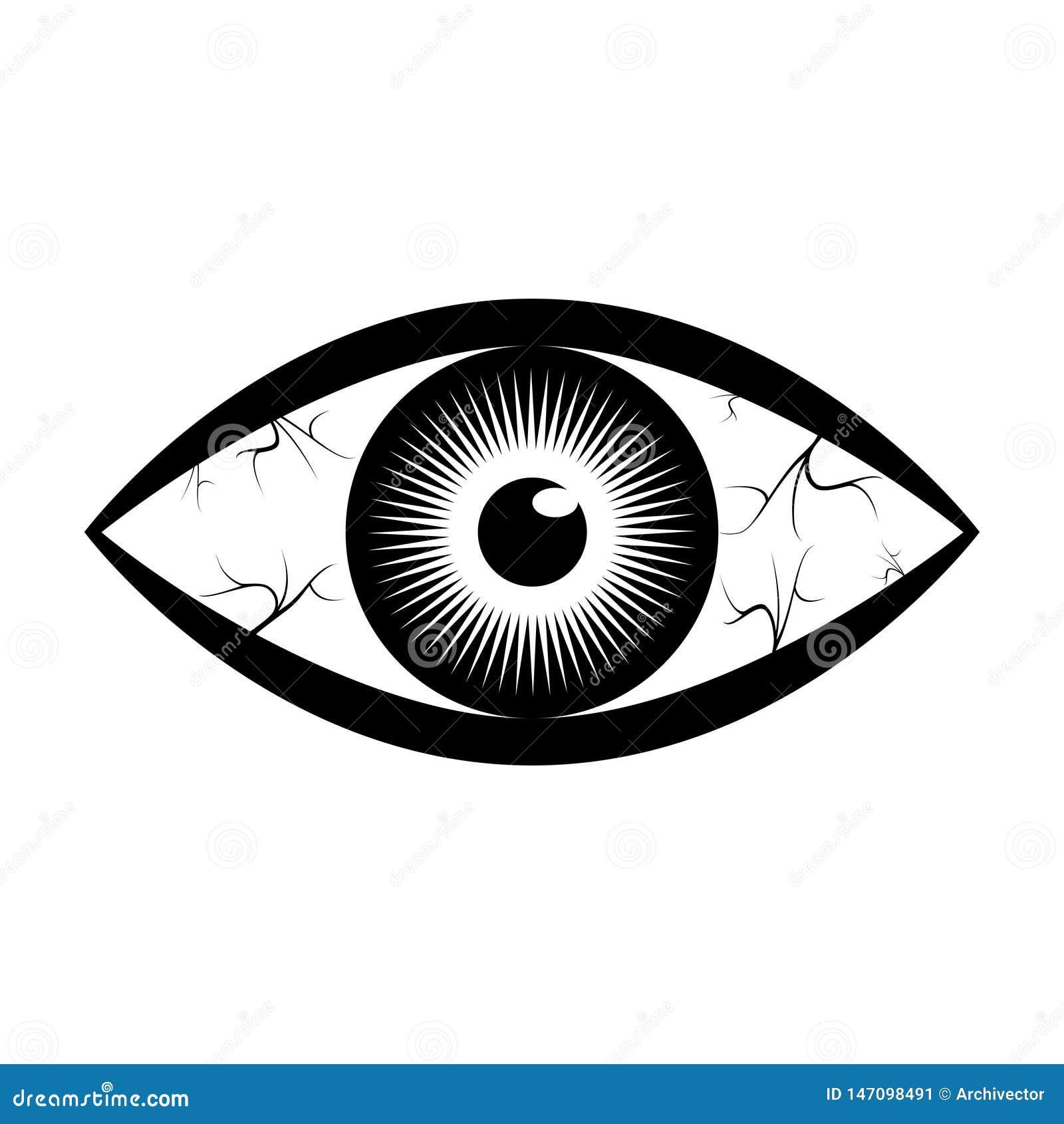 Grafisch teken menselijk oog met schepen