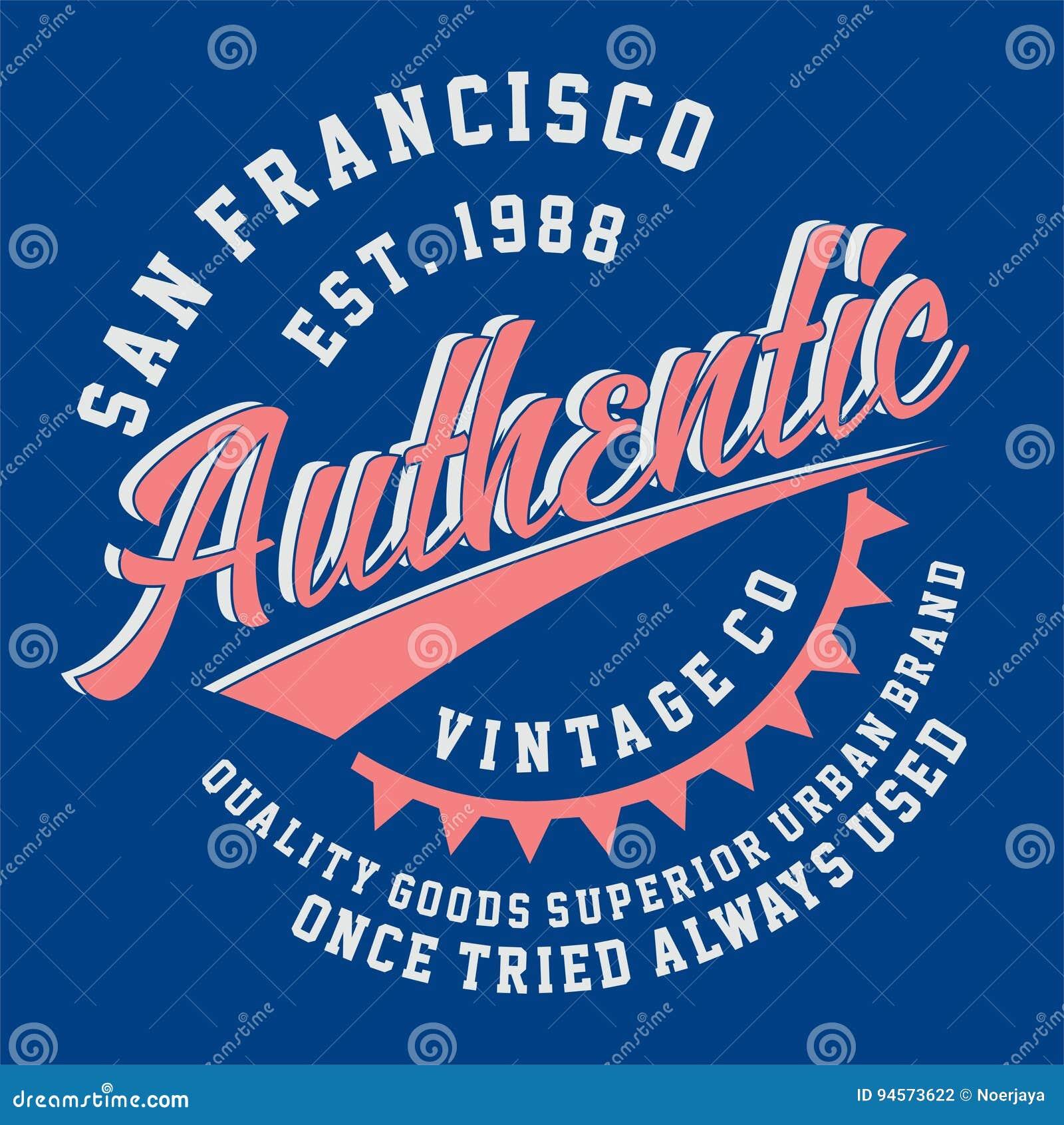 Grafische AUTHENTISCHE WEINLESE SAN FRANCISCOS