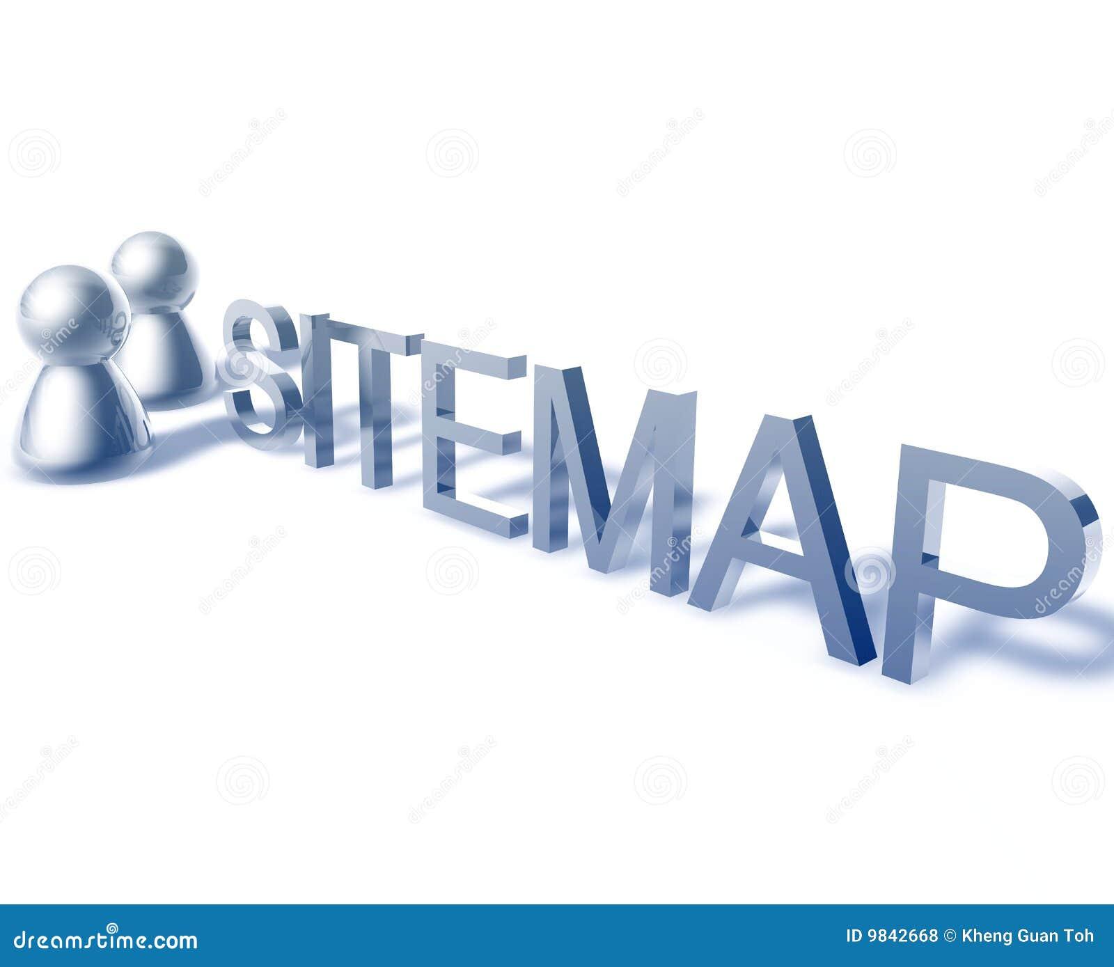 Grafische het woord van Sitemap