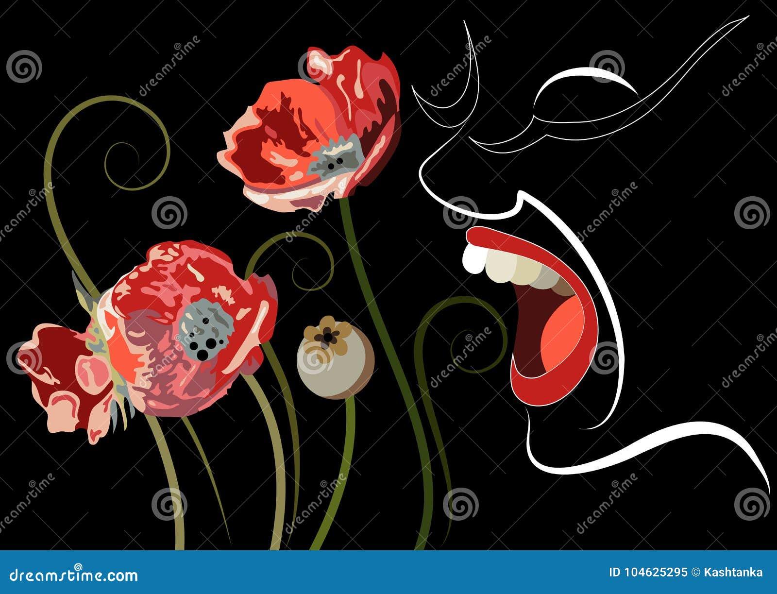 Download Grafische Illustratie Met Decoratieve Opiaten 3 Vector Illustratie - Illustratie bestaande uit concept, opioid: 104625295