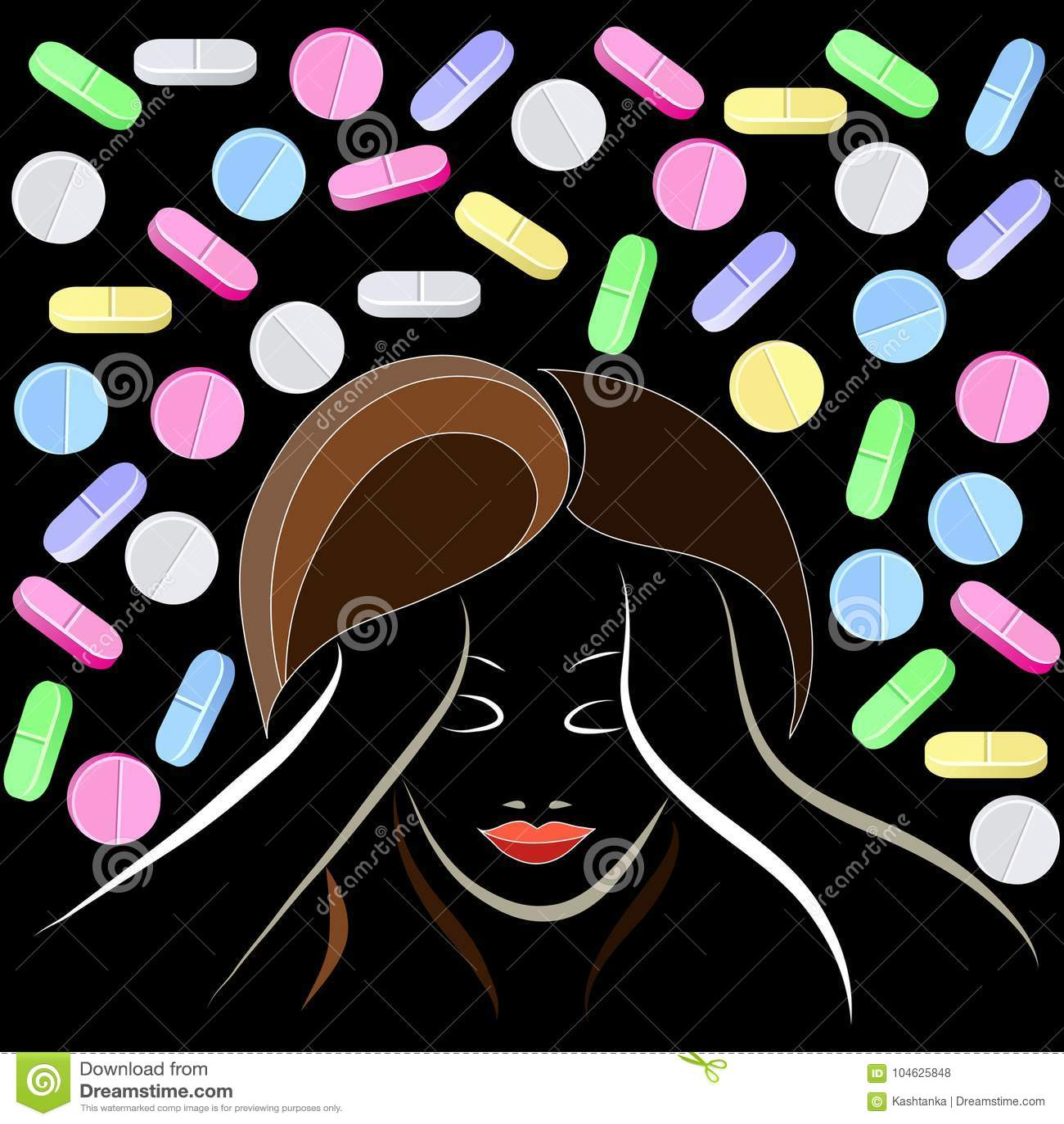 Download Grafische Illustratie Met Decoratieve Opiaten 7 Vector Illustratie - Illustratie bestaande uit grafisch, drug: 104625848