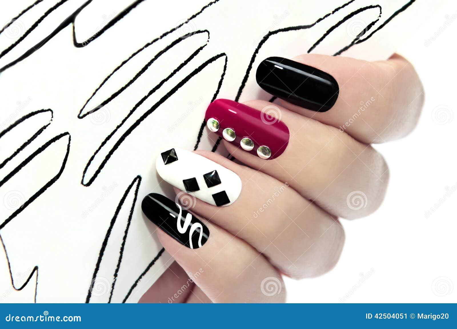 Grafische manicure