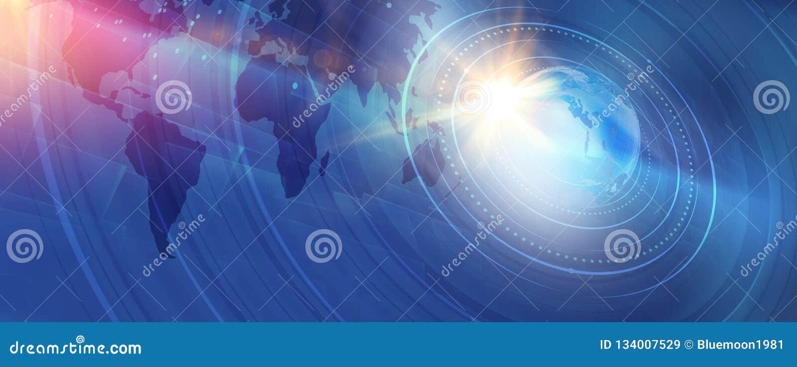 Grafische moderne digitale Weltnachrichten-Hintergrund Konzept-Reihe