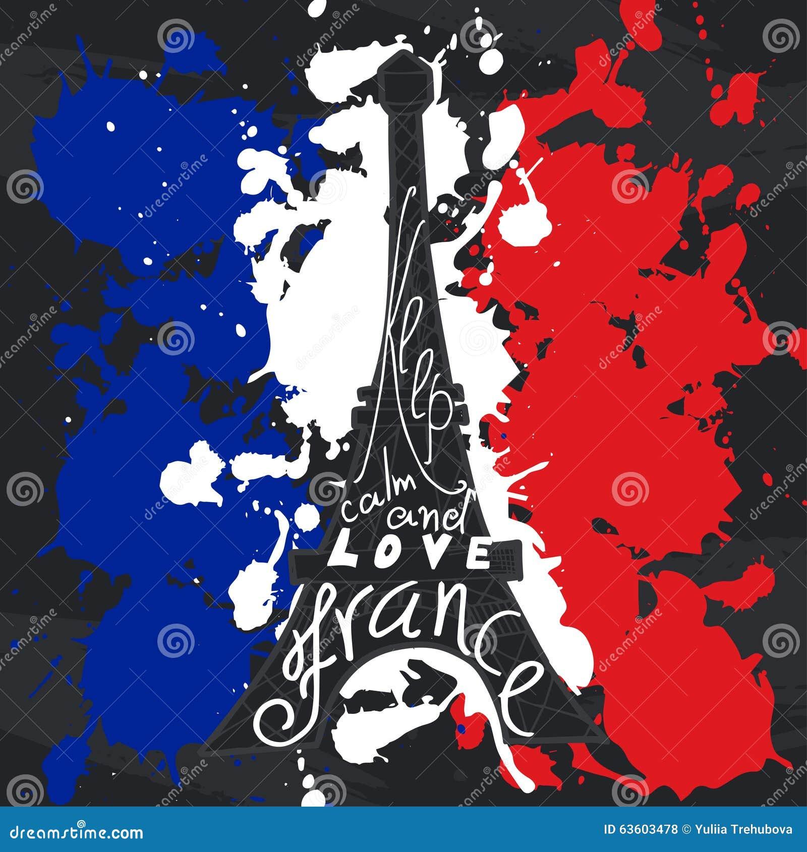 Grafische Typografische Karte Frankreichs Designvektorkunst Mit ...