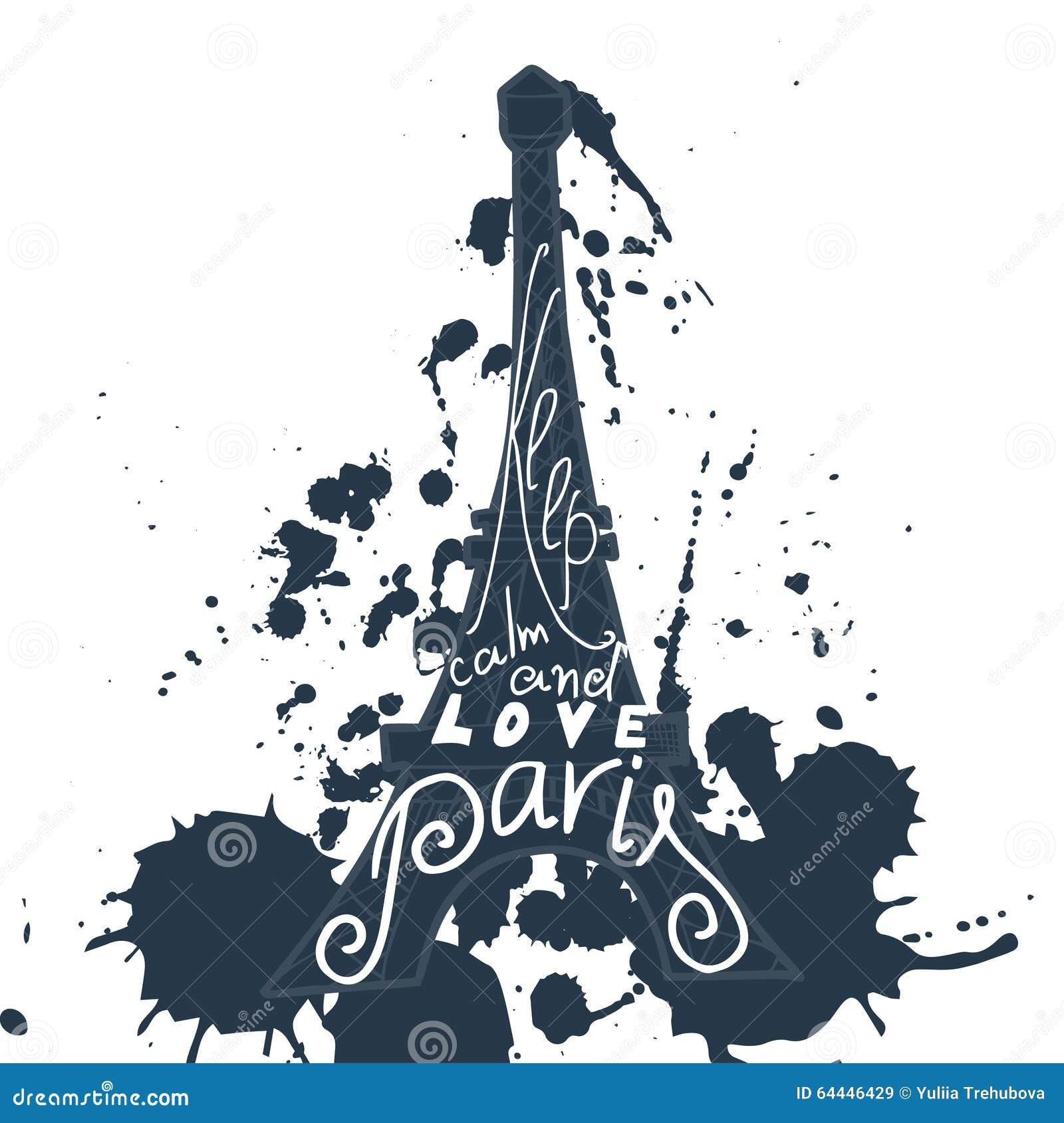 Grafische Typografische Karte Paris Designvektorkunst Mit Kreativem ...