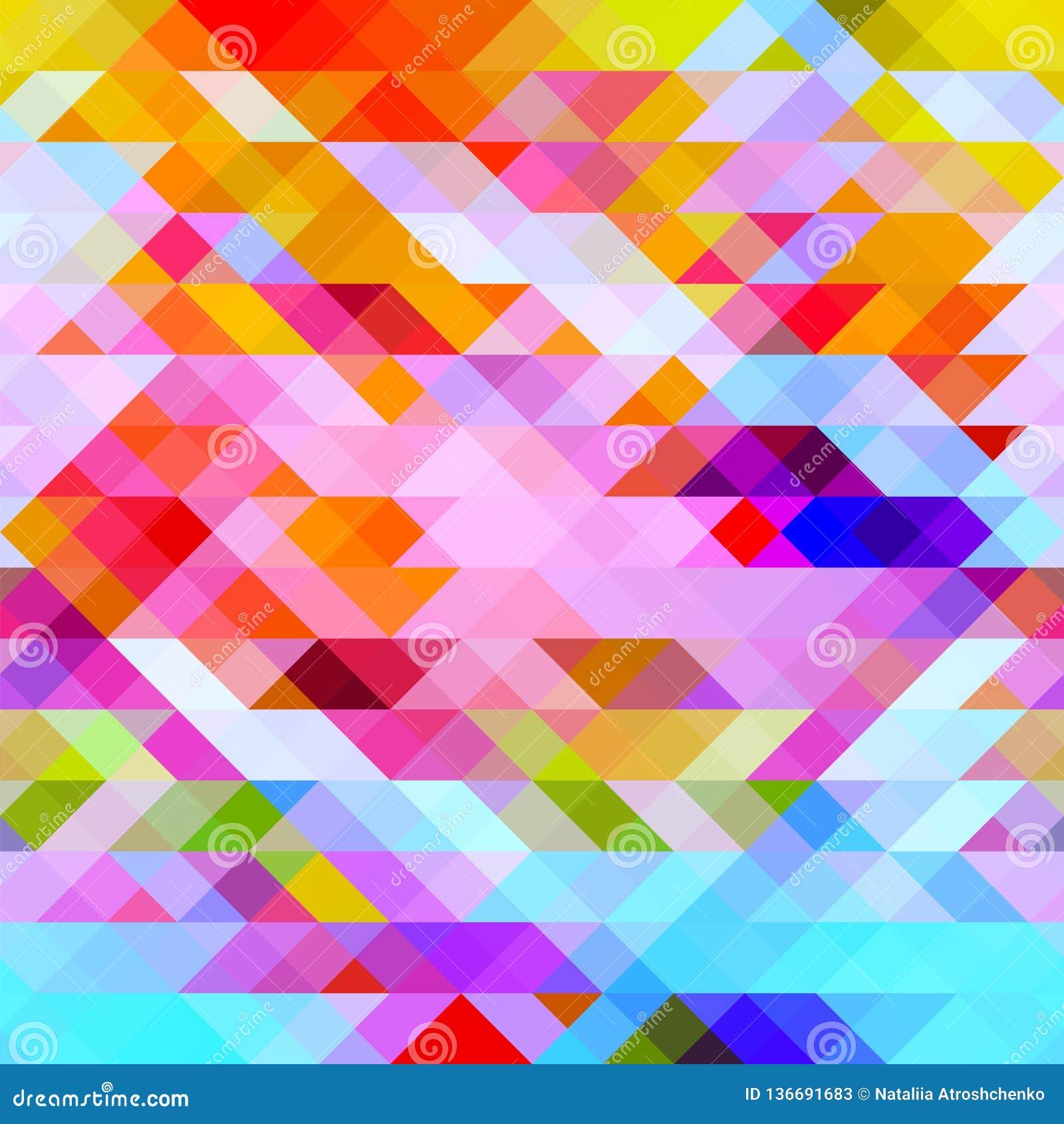 Grafischer heller abstrakter Hintergrund mit Dreiecken