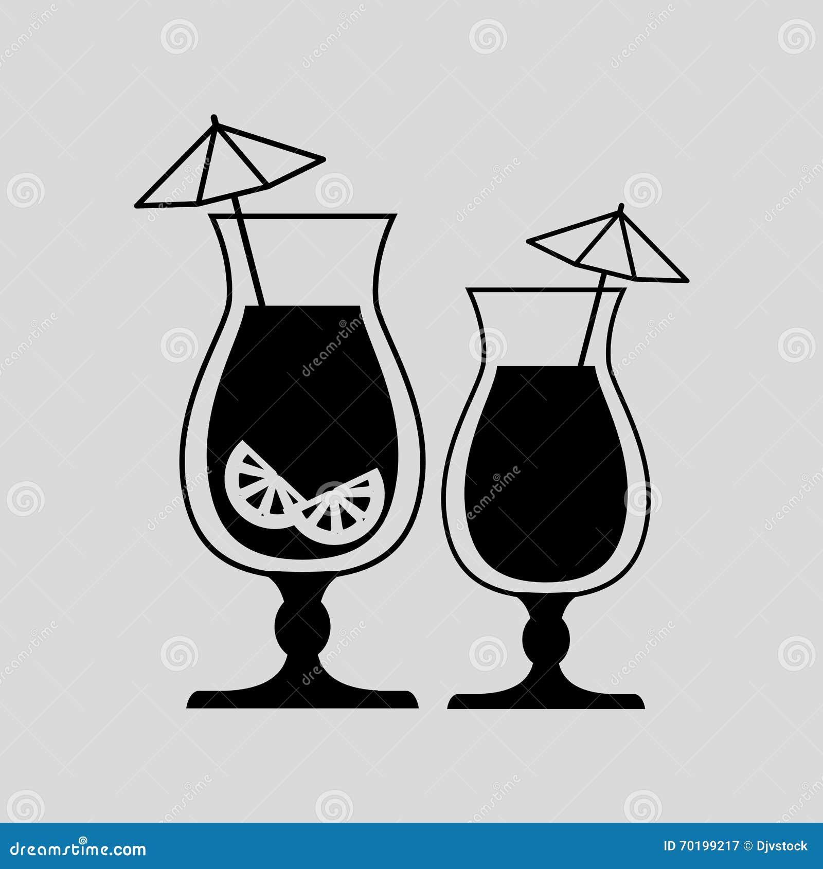 Grafisk design för drink, vektorillustration