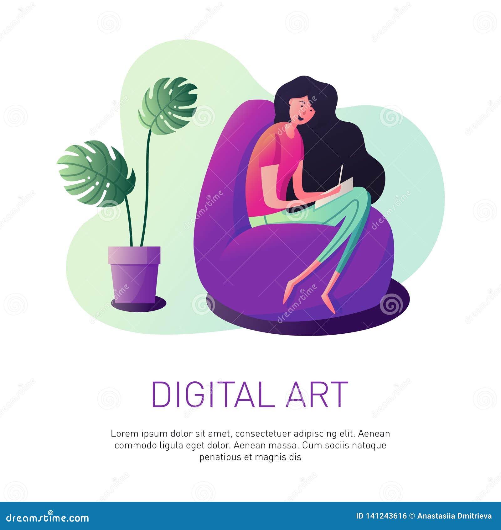 Grafisk formgivare för kvinna
