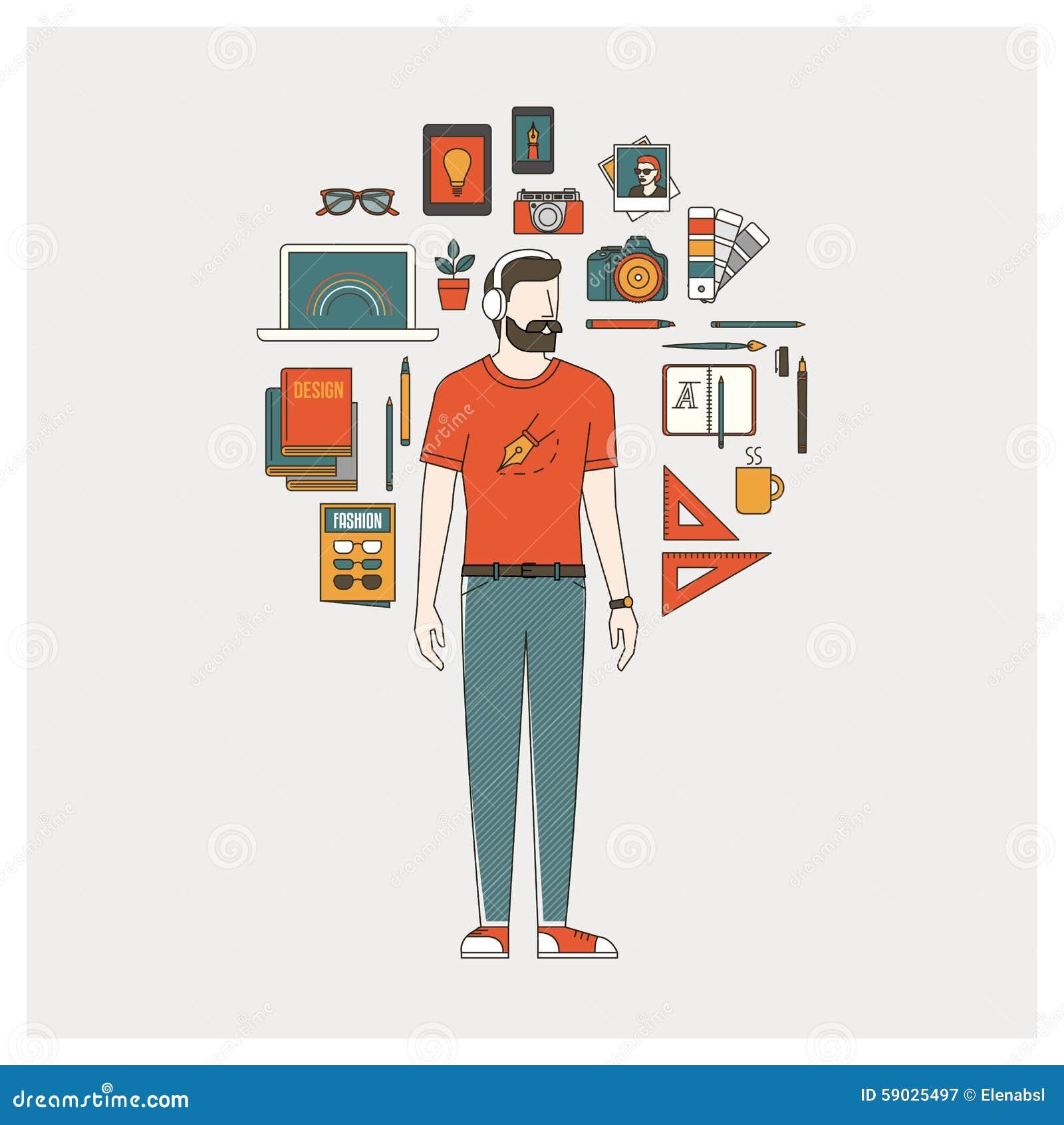 Grafisk formgivare, illustratör och fotograf