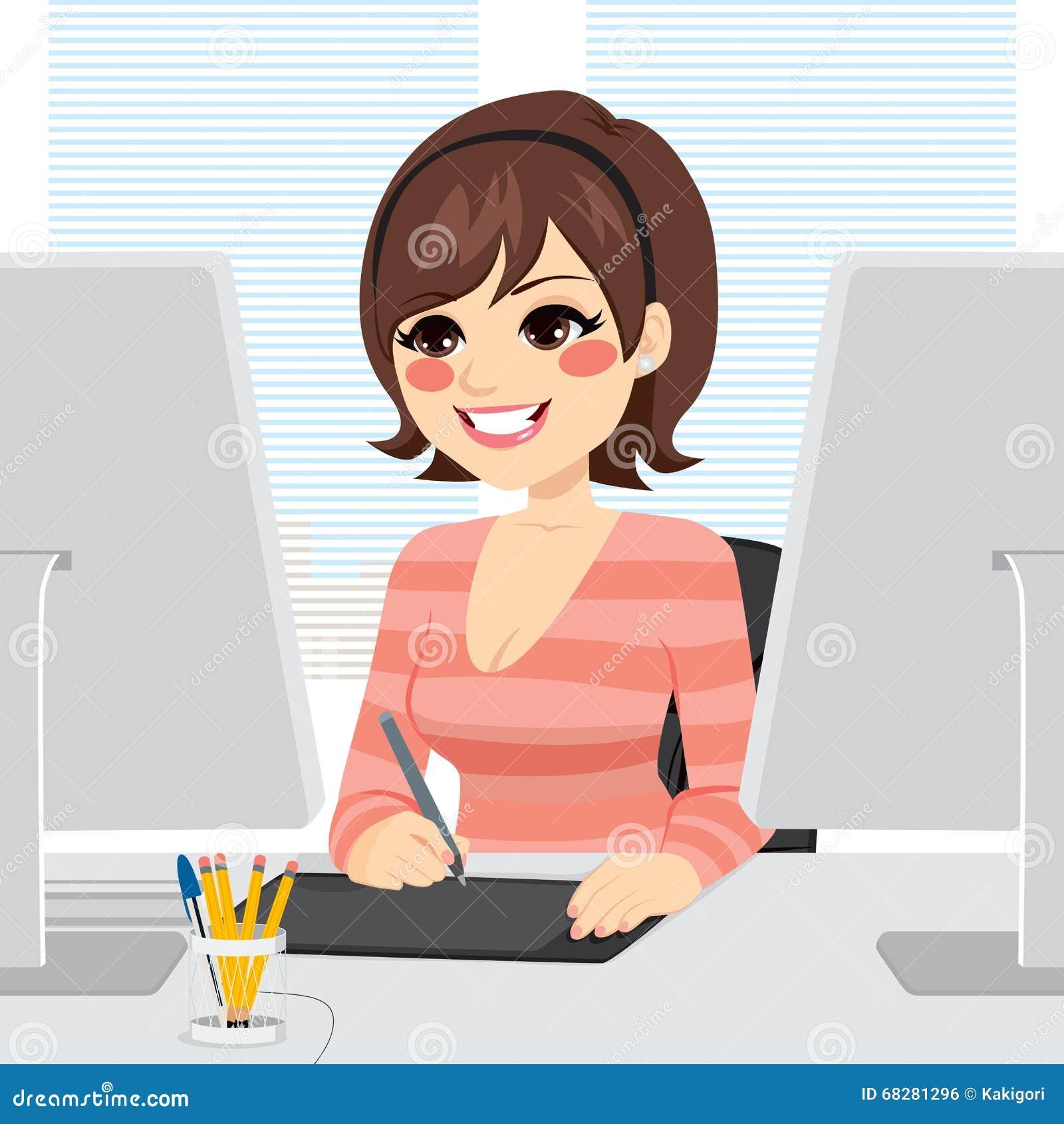Grafisk formgivare Woman