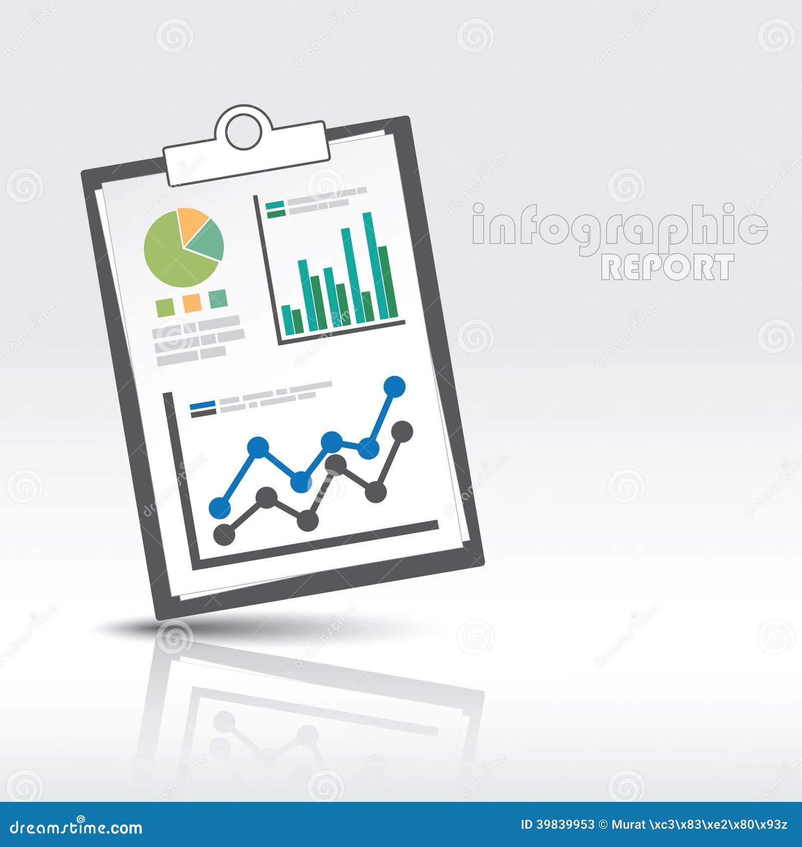 Grafisk rapport för information