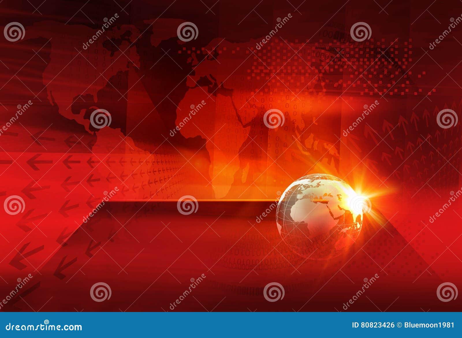 Grafisk serie 52 för begrepp för Digital världsnyheterbakgrund
