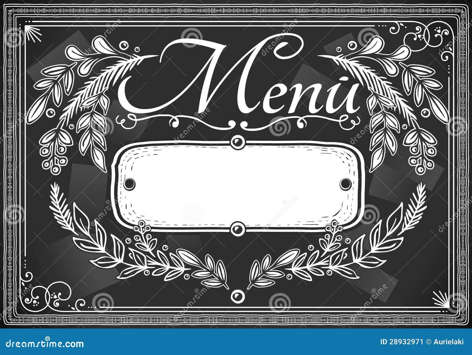 Grafisk tappning förlägger kortmenyn för bommar för eller restaurangen