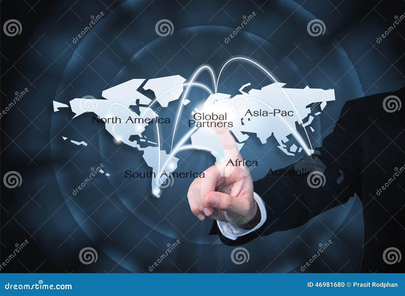 Grafiskt bruk för globala partners för import-/exportbakgrund