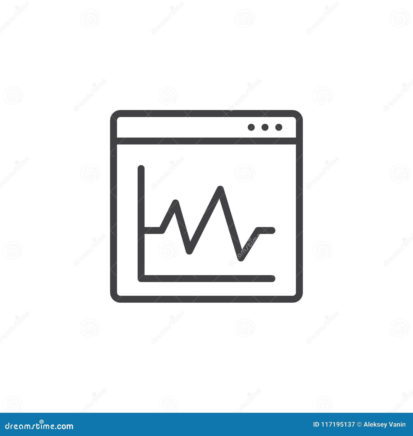 Grafiskt diagram på symbol för översikt för webbläsarefönster