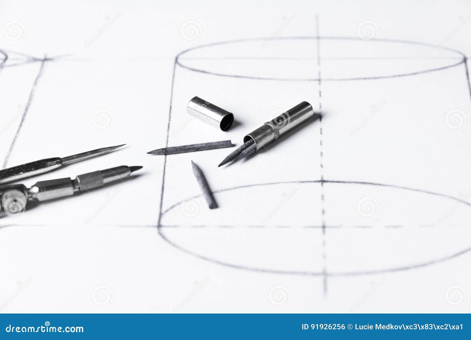 Grafit för passare - teknisk teckning