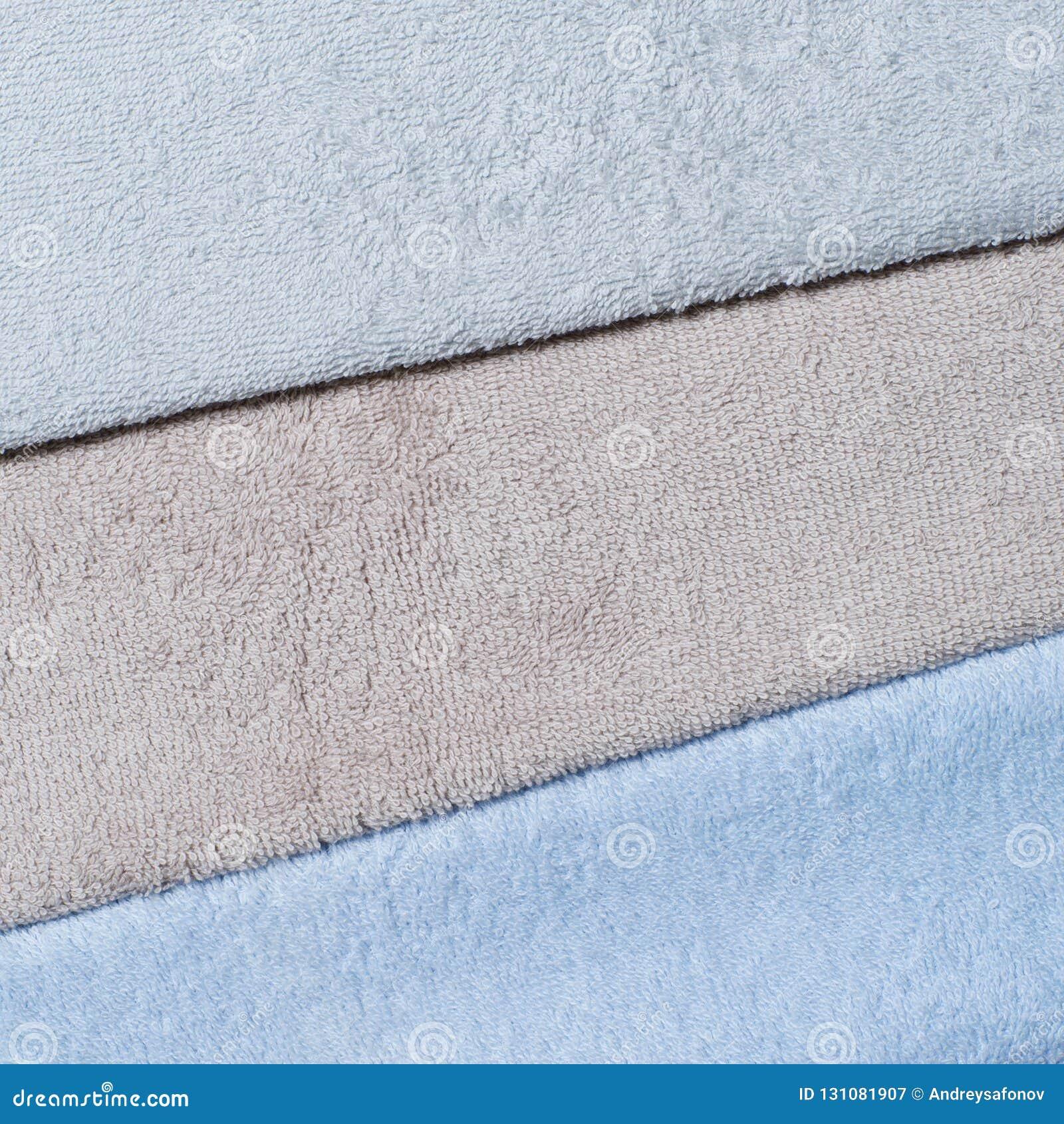 Grafit som är kall som är beige och som är blå, färgen av frottéhanddukar