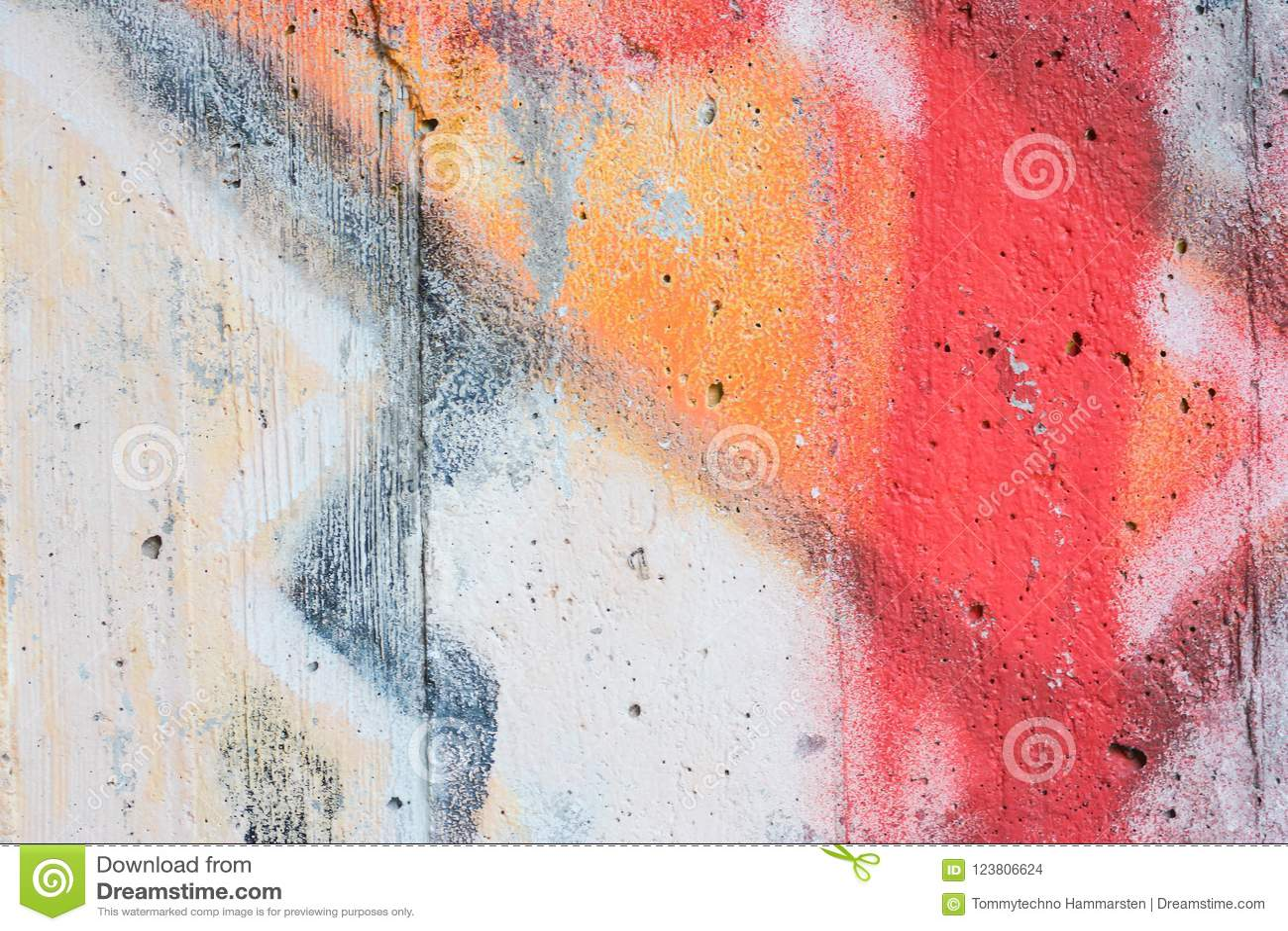 Grafiti Background On The Concrete Wall Stock Photo Image