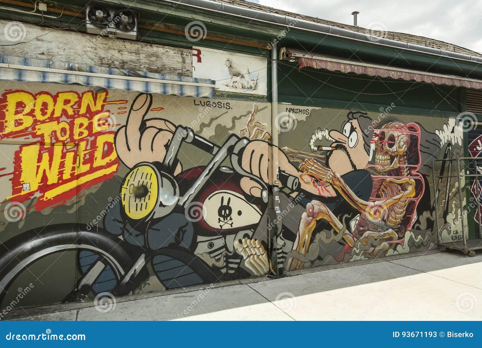 Grafittikonst i Wien
