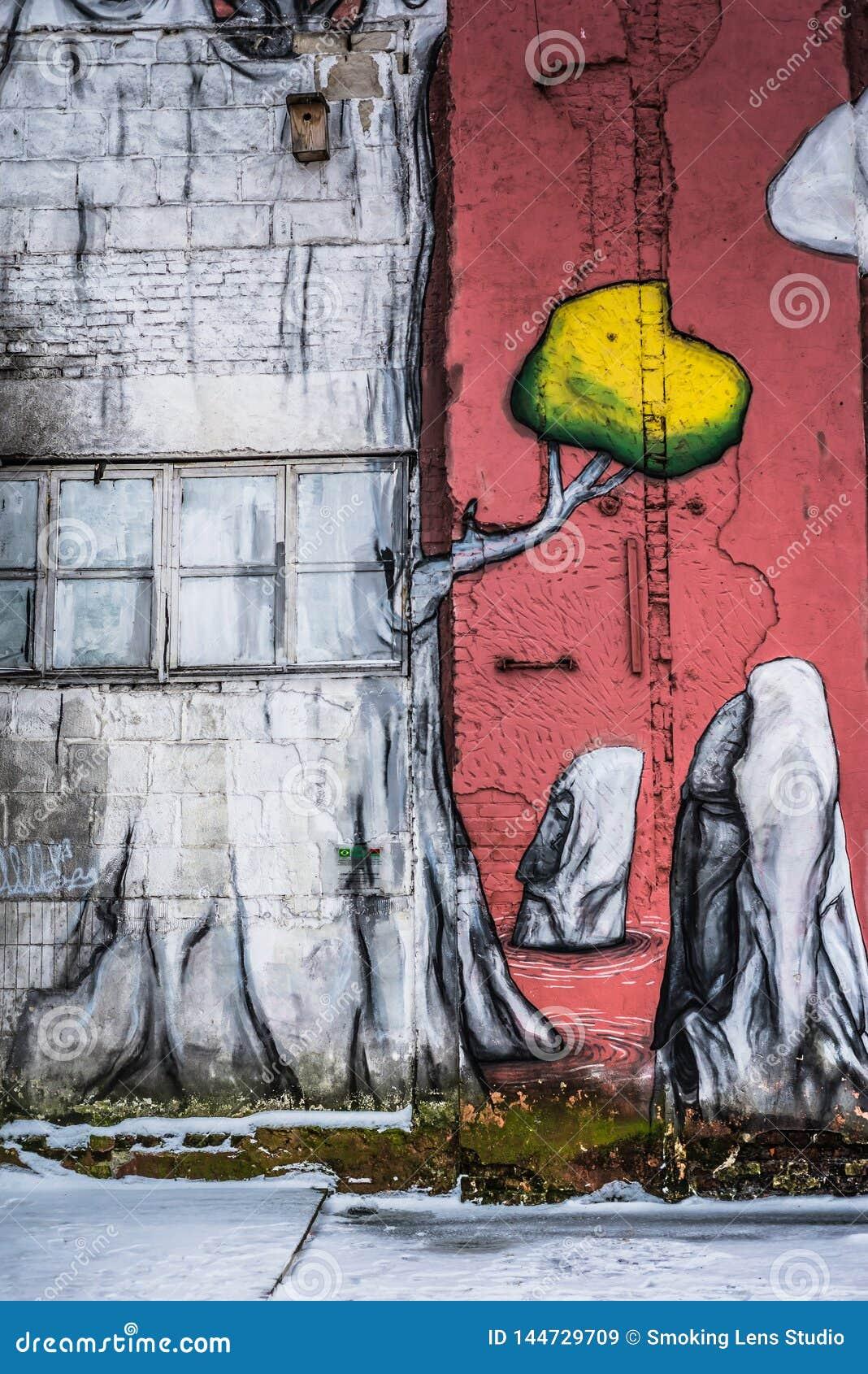 Grafittis da rua em Minsk, Bielorrússia