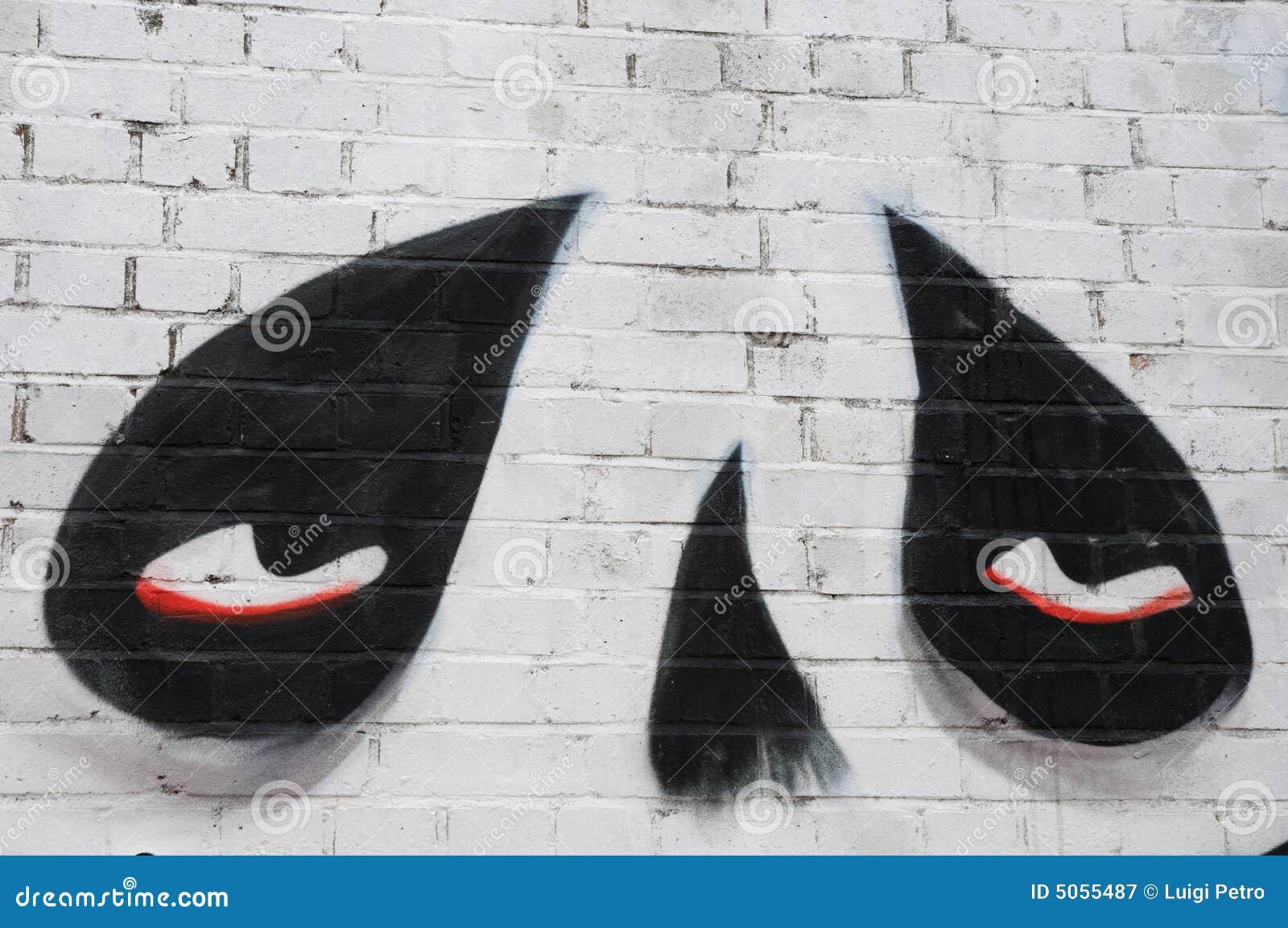 Grafittis na rua de Sclater, Londres