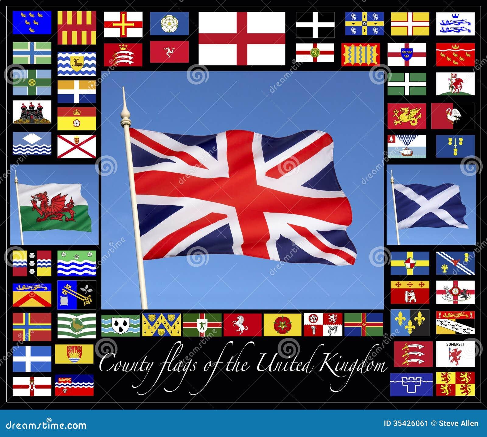 Grafschafts-Flaggen des Vereinigten Königreichs