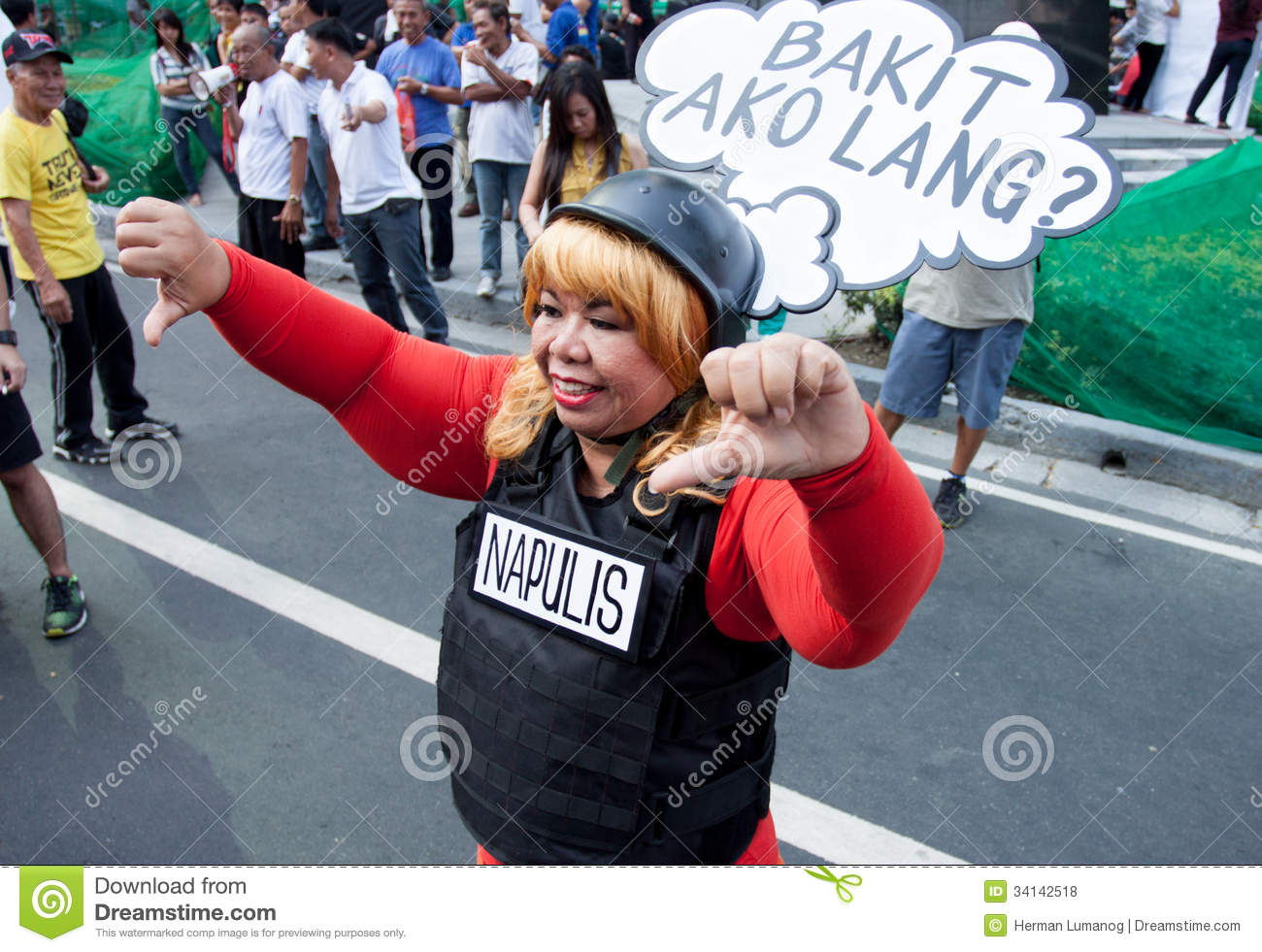 Graft and corruption protest in Manila, Philippines